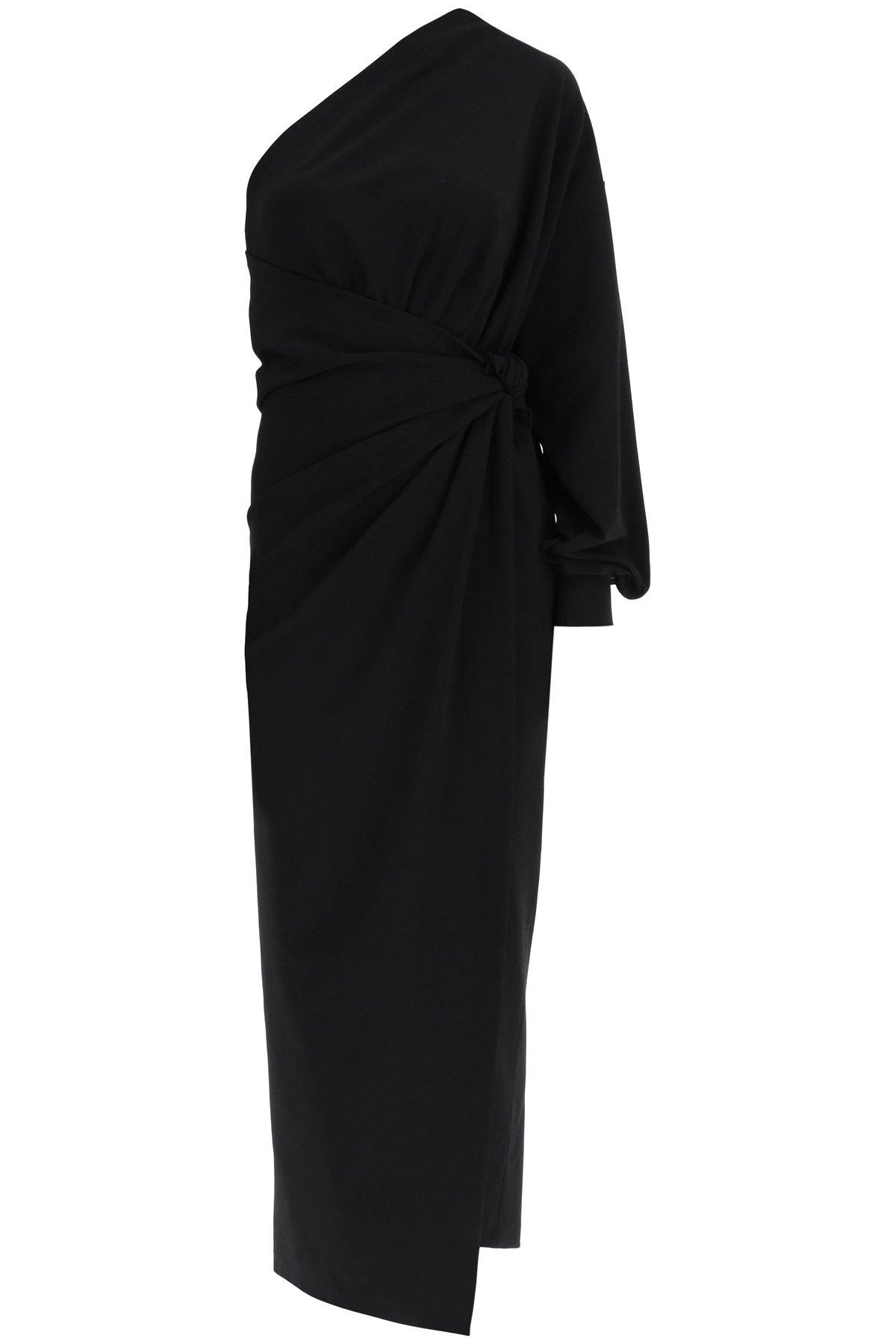 Balenciaga abito monospalla in jersey punto milano