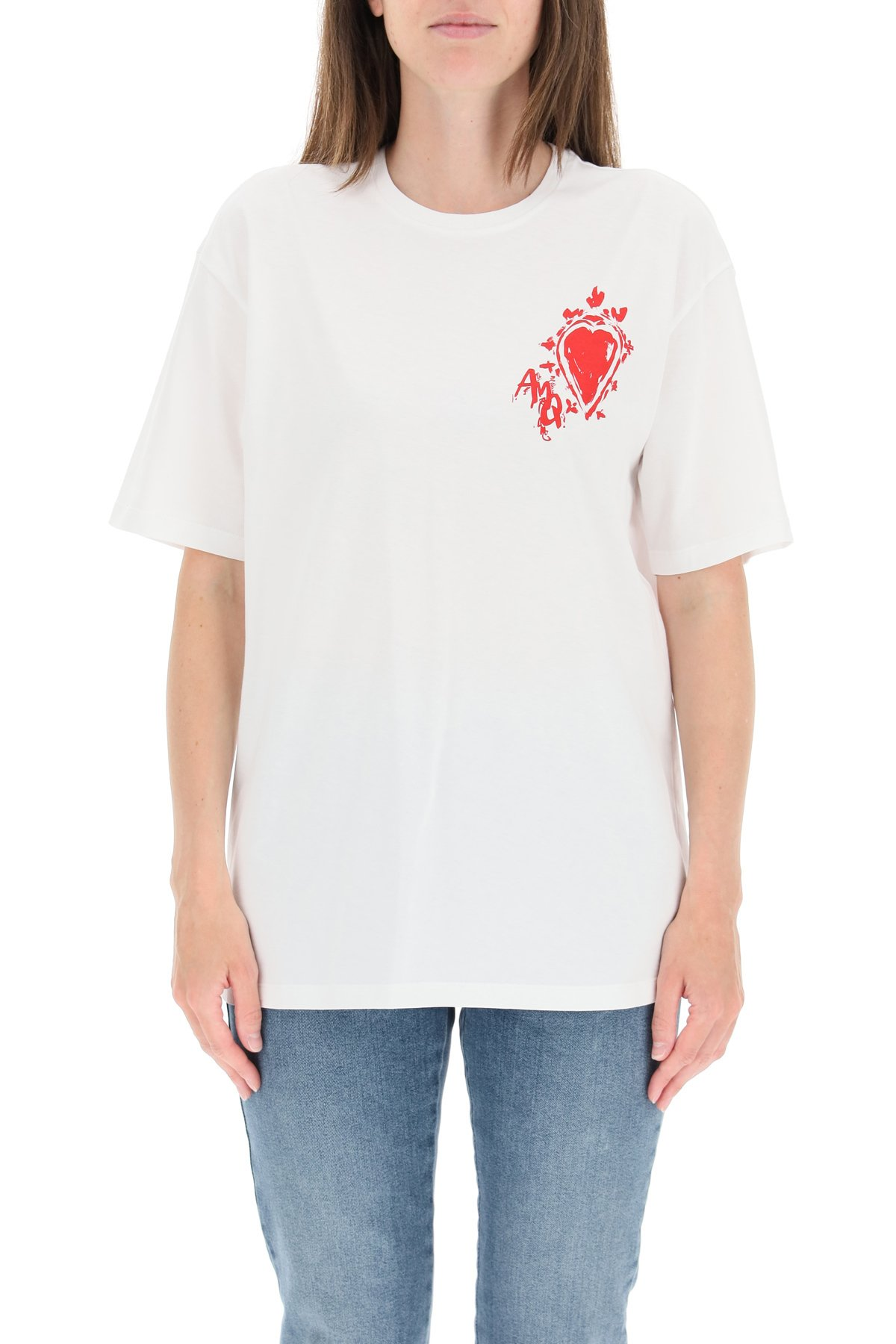 Alexander mcqueen t-shirt stampa love