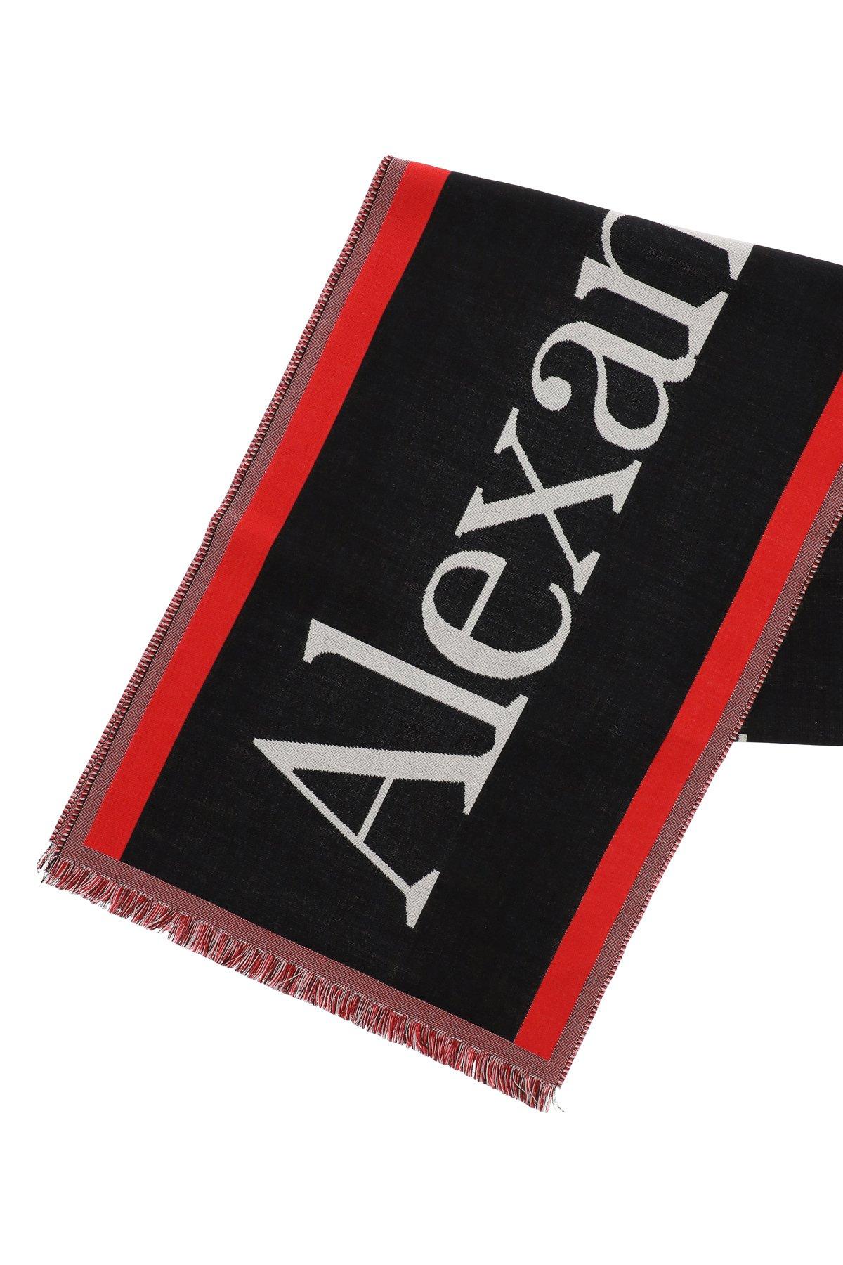 Alexander mcqueen sciarpa oversize selvedge