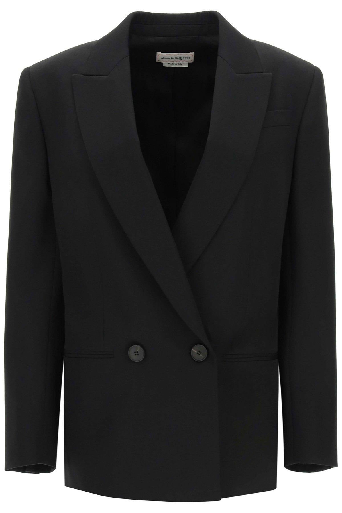 Alexander mcqueen giacca doppio petto in lana