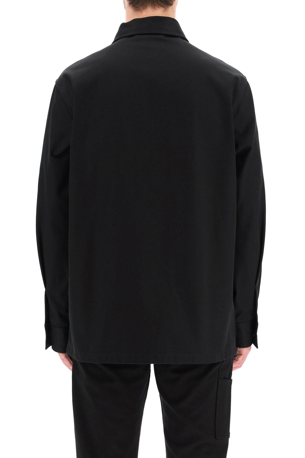 Alexander mcqueen giacca-camicia in denim