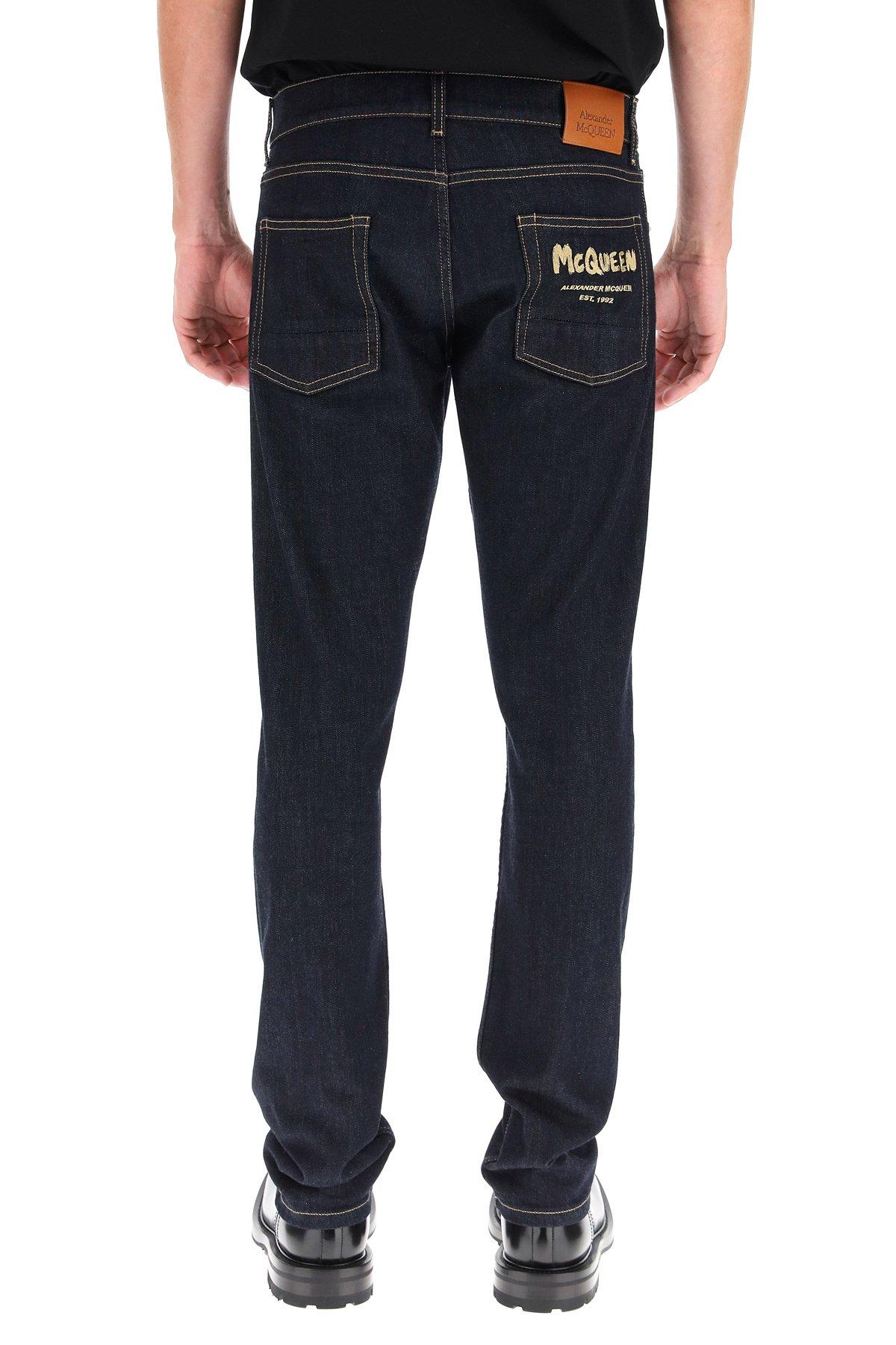 Alexander mcqueen jeans graffiti