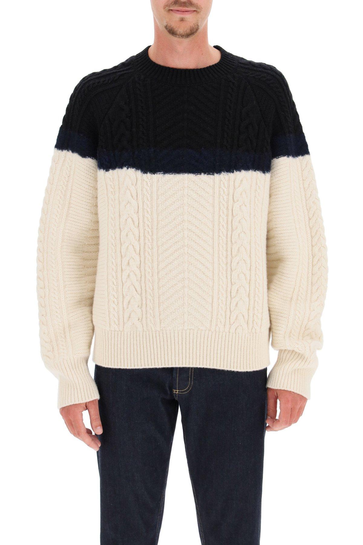 Alexander mcqueen maglione intrecciato bicolore