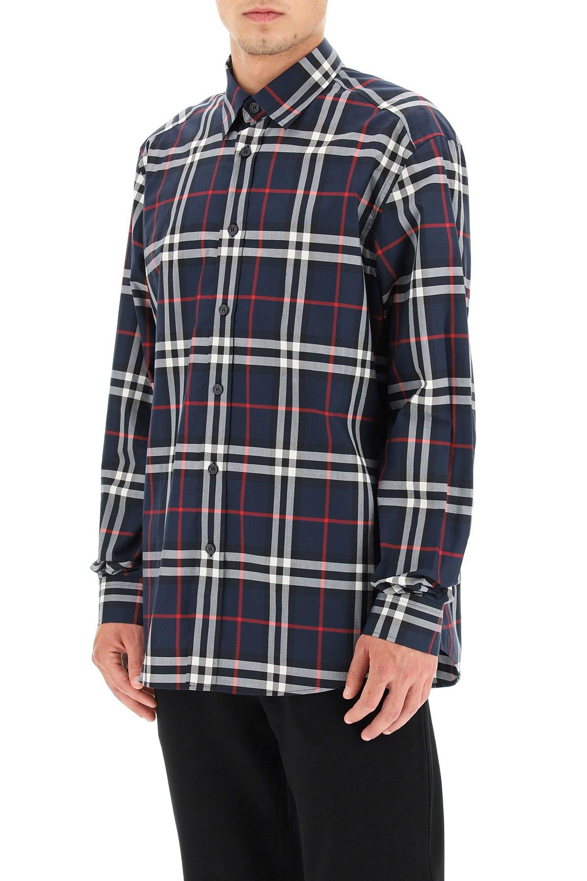 Burberry camicia classica caxton