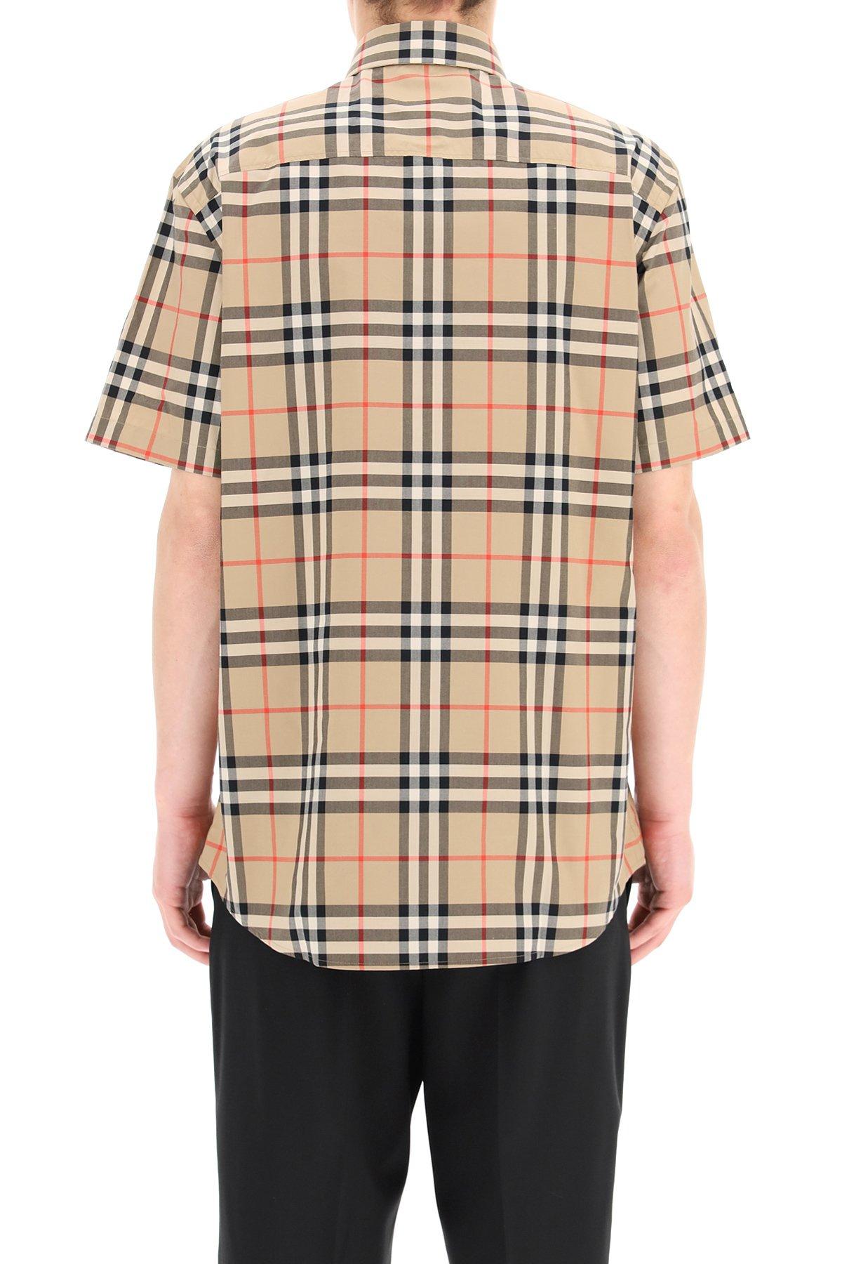 Burberry camicia caxton tartan