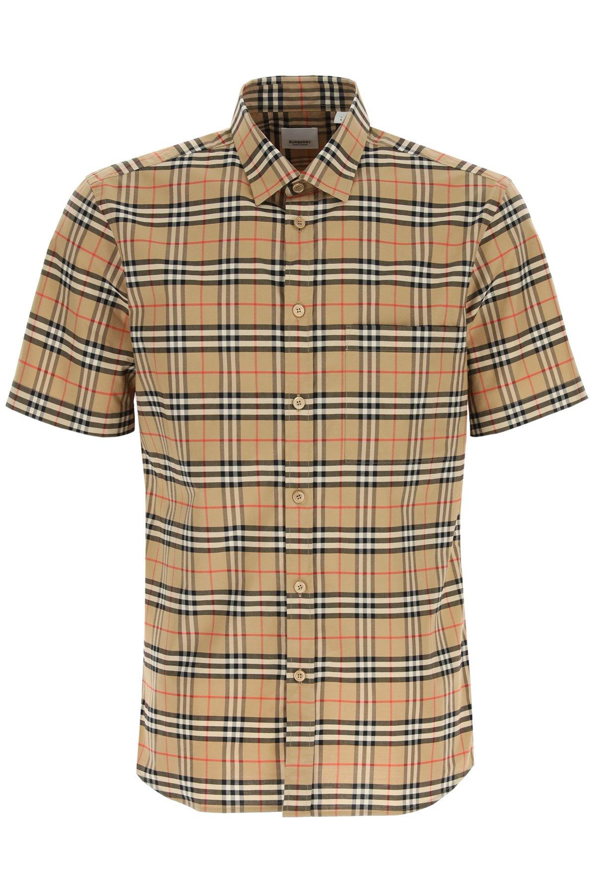Burberry camicia simpson con motivo tartan