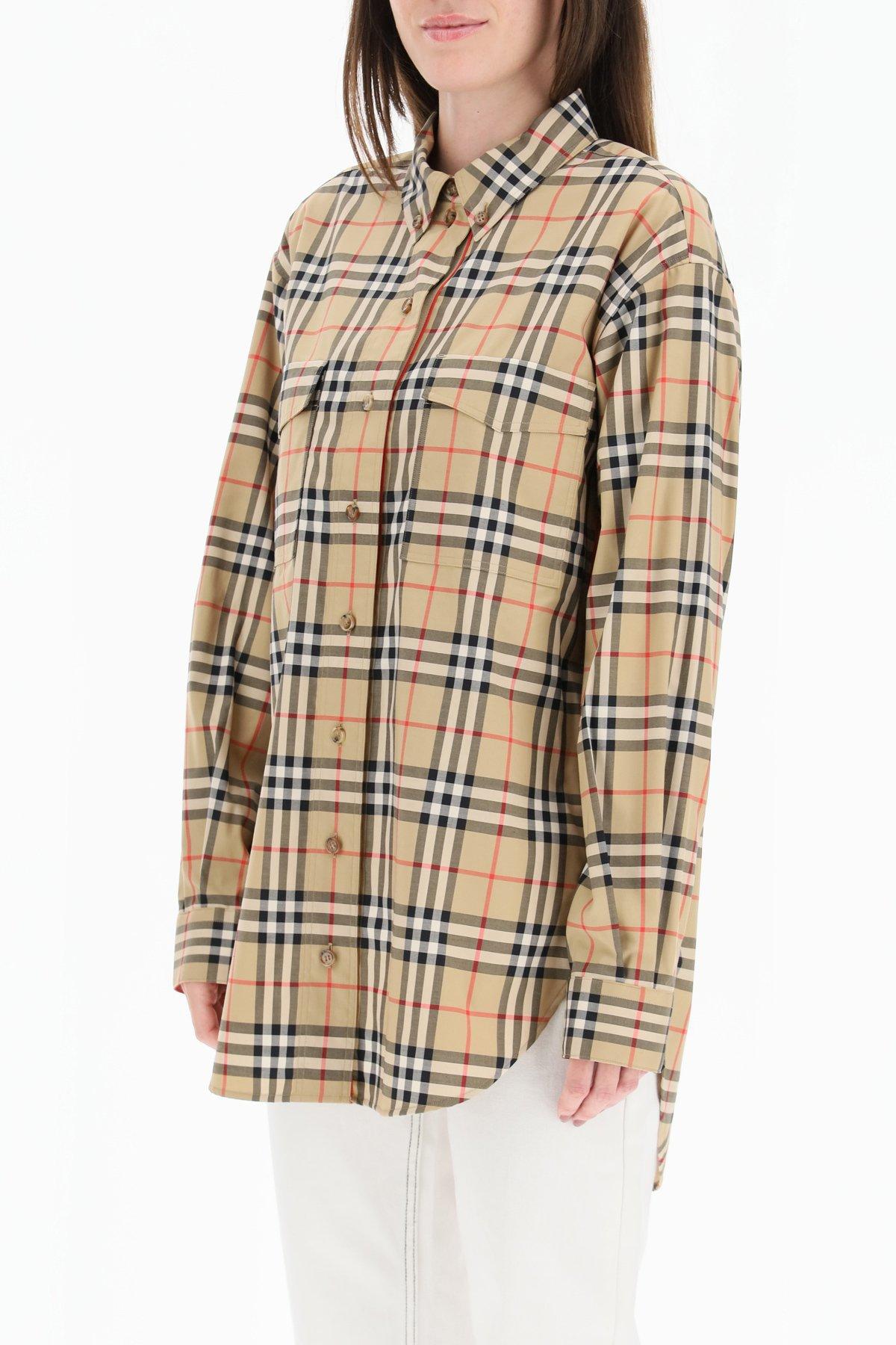 Burberry camicia oversize vintage check