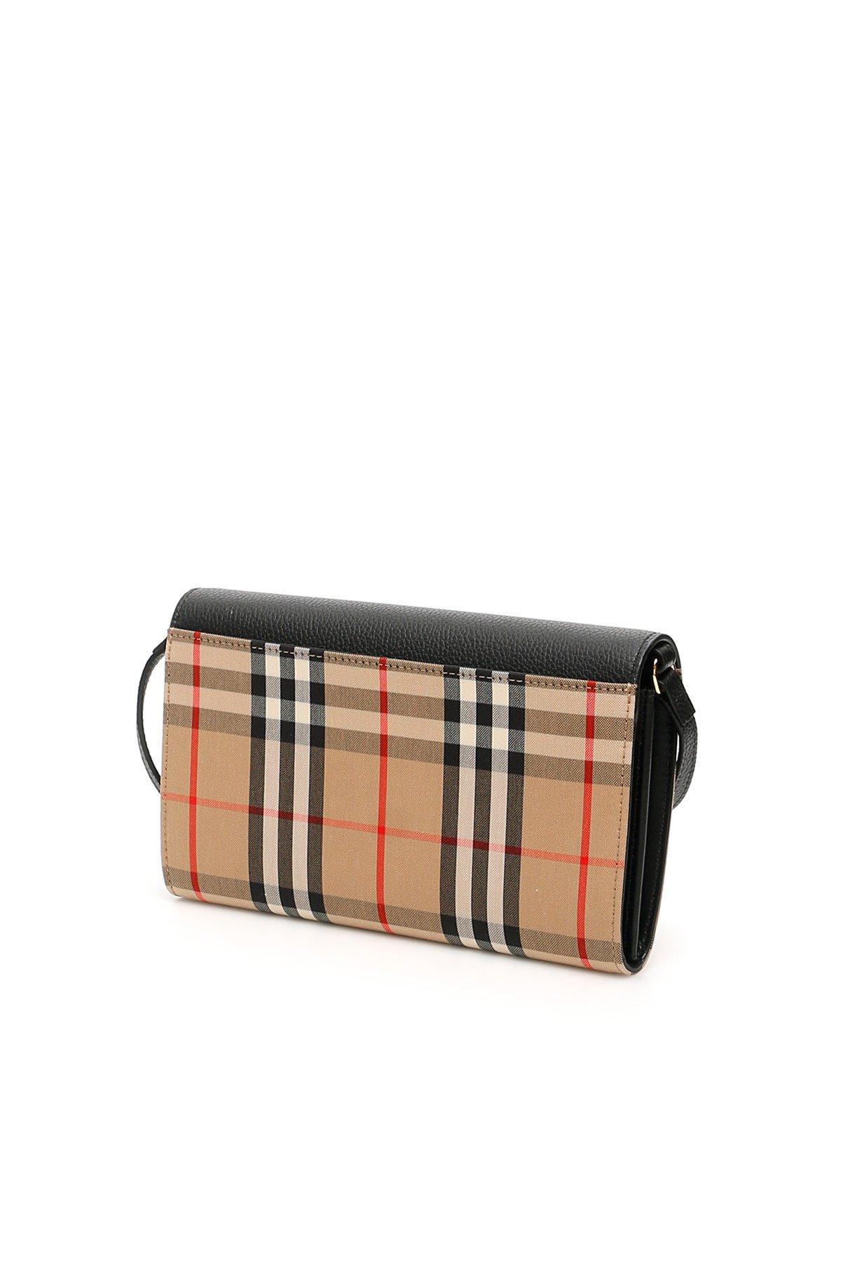 Burberry portafoglio hanna con tracolla