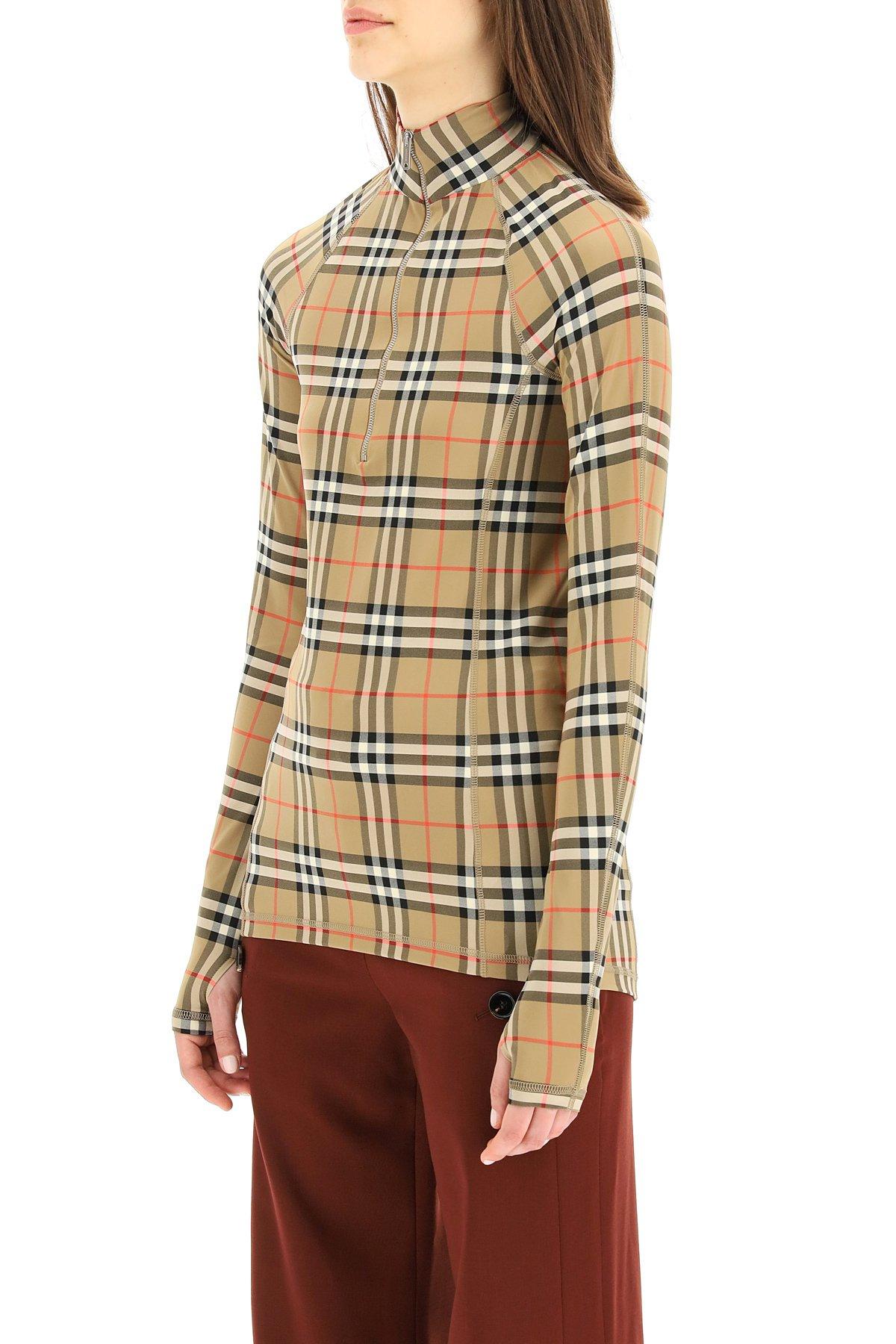 Burberry dolcevita vilan in jersey tartan check