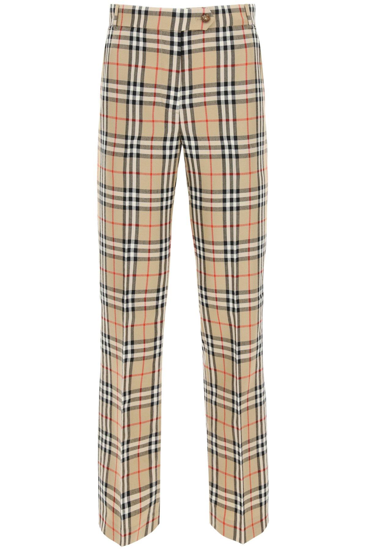 Burberry pantaloni fleur vintage check