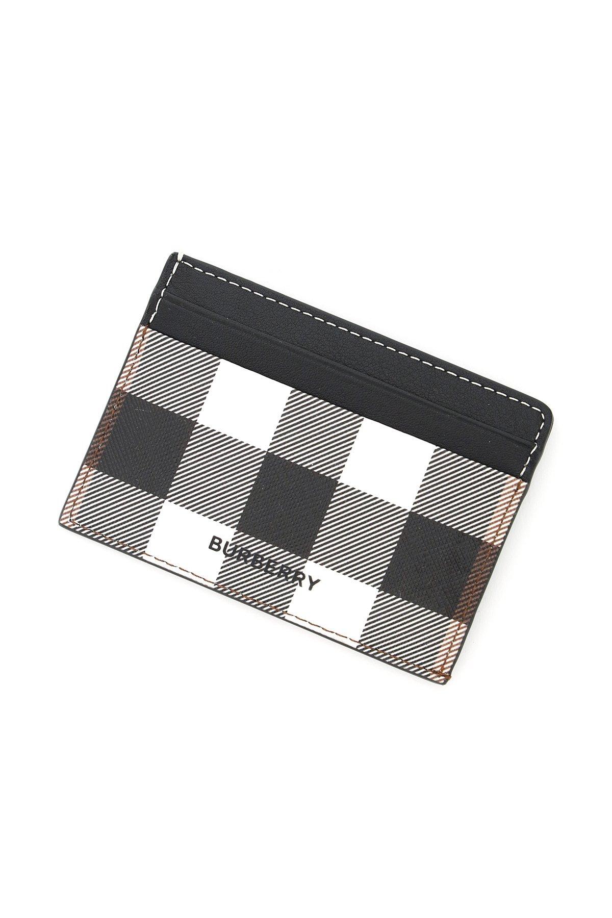 Burberry porta carte di credito in e-canvas