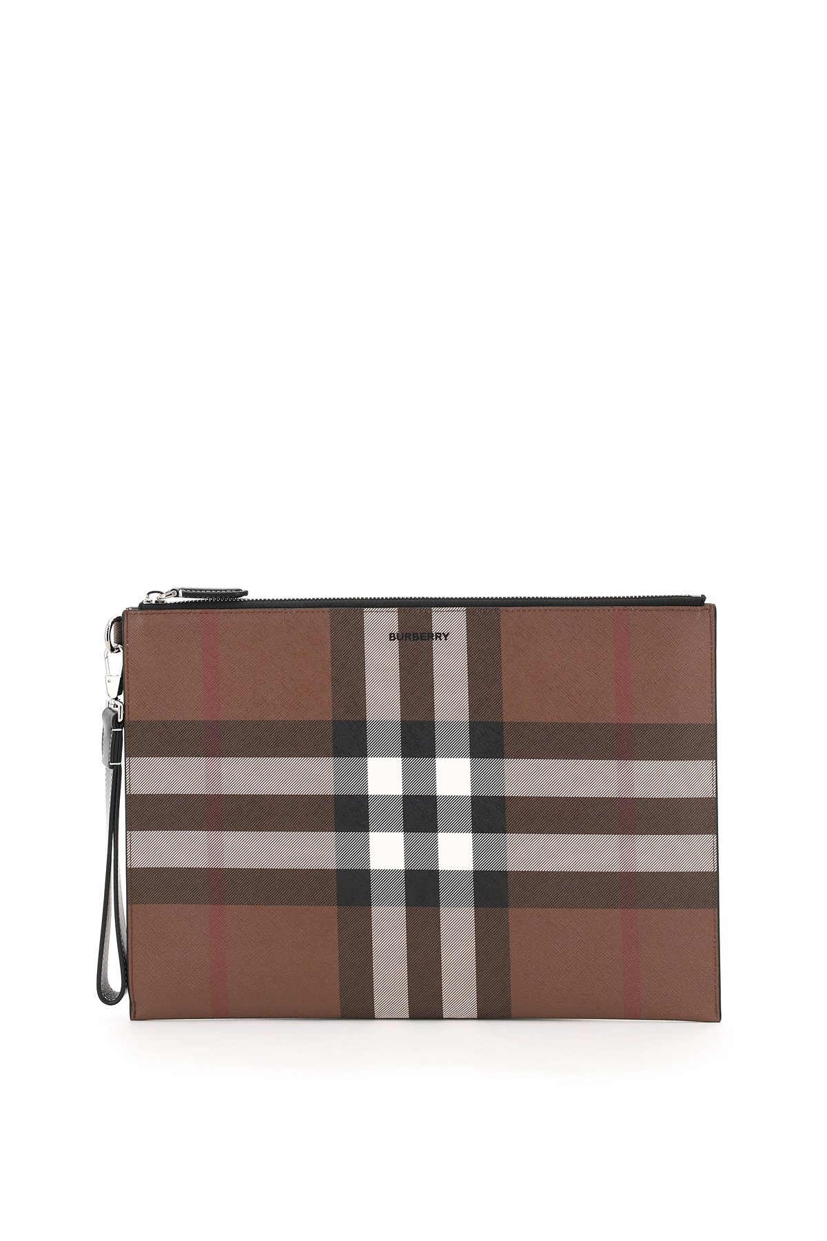 Burberry pouch in e-canvas stampa tartan