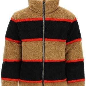 Burberry color block fleece down jacket