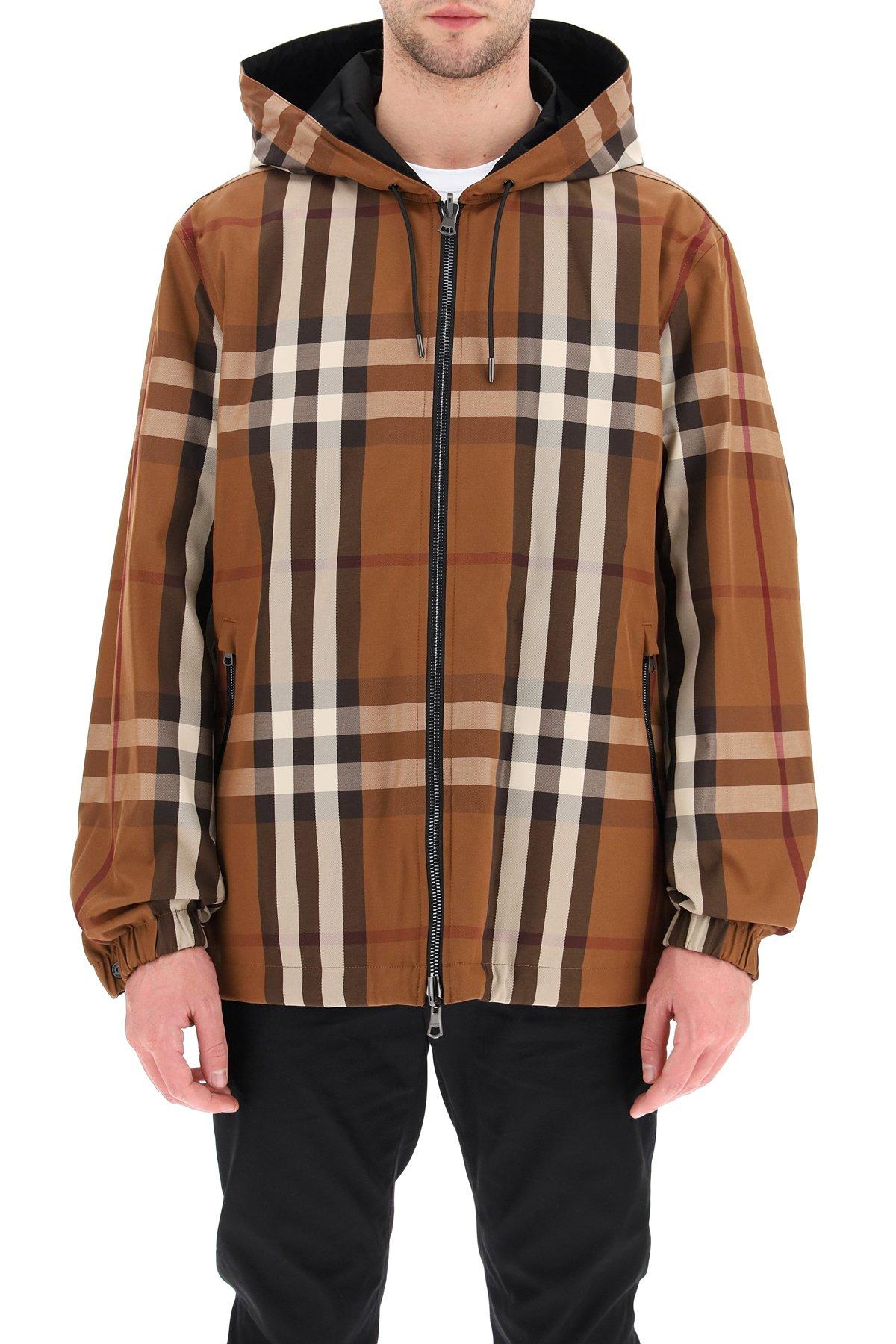Burberry giacca reversibile con cappuccio
