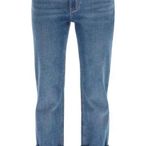 Burberry jeans marissa con risvolto a righe