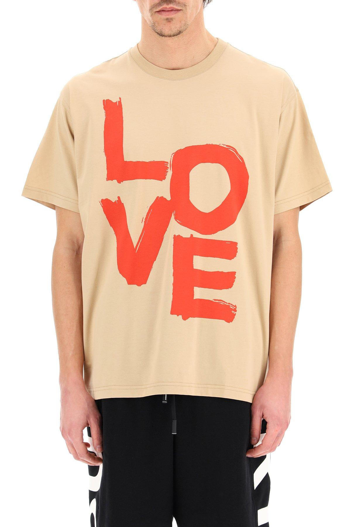 Burberry t-shirt stampa love