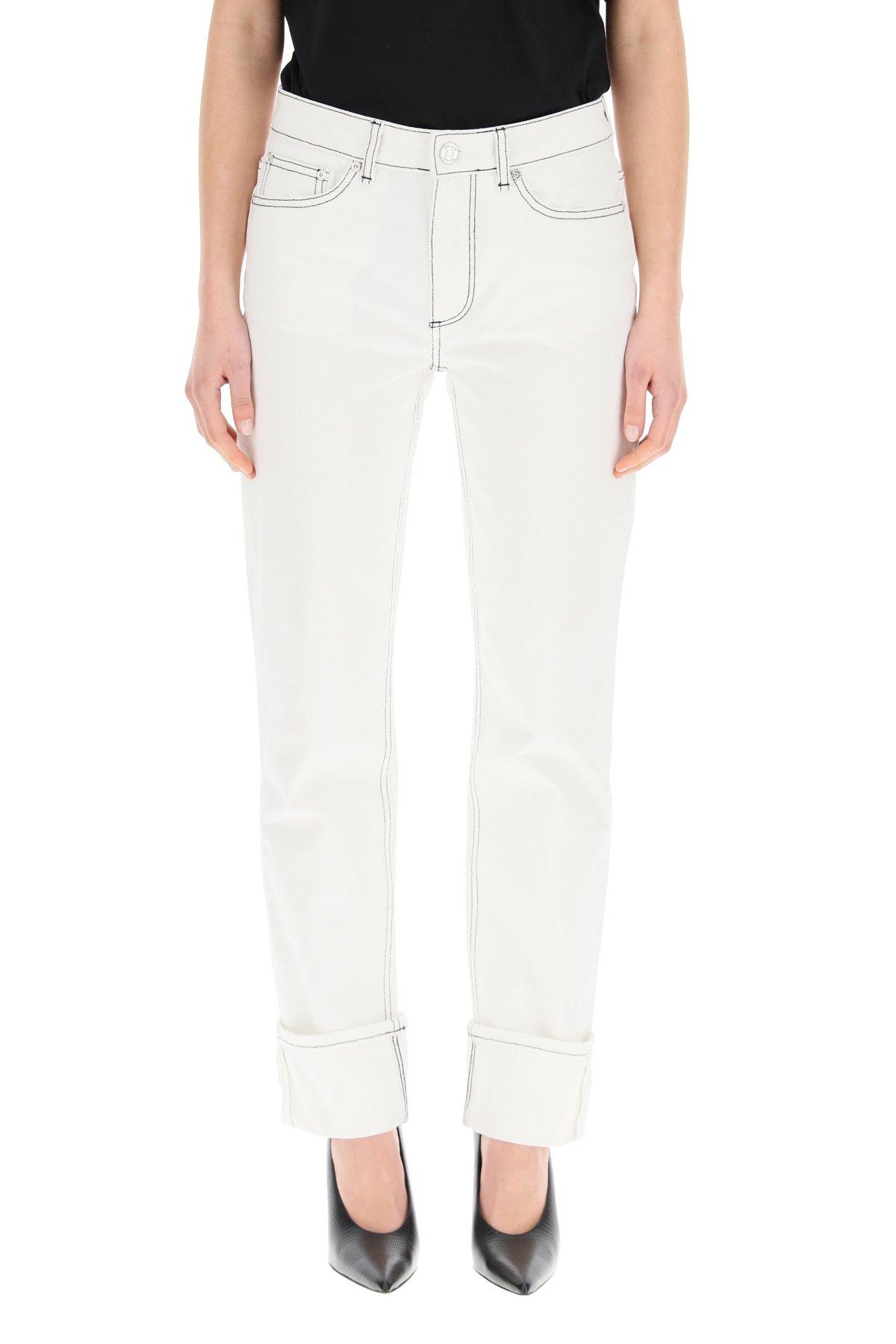 Burberry jeans con risvolto marissa