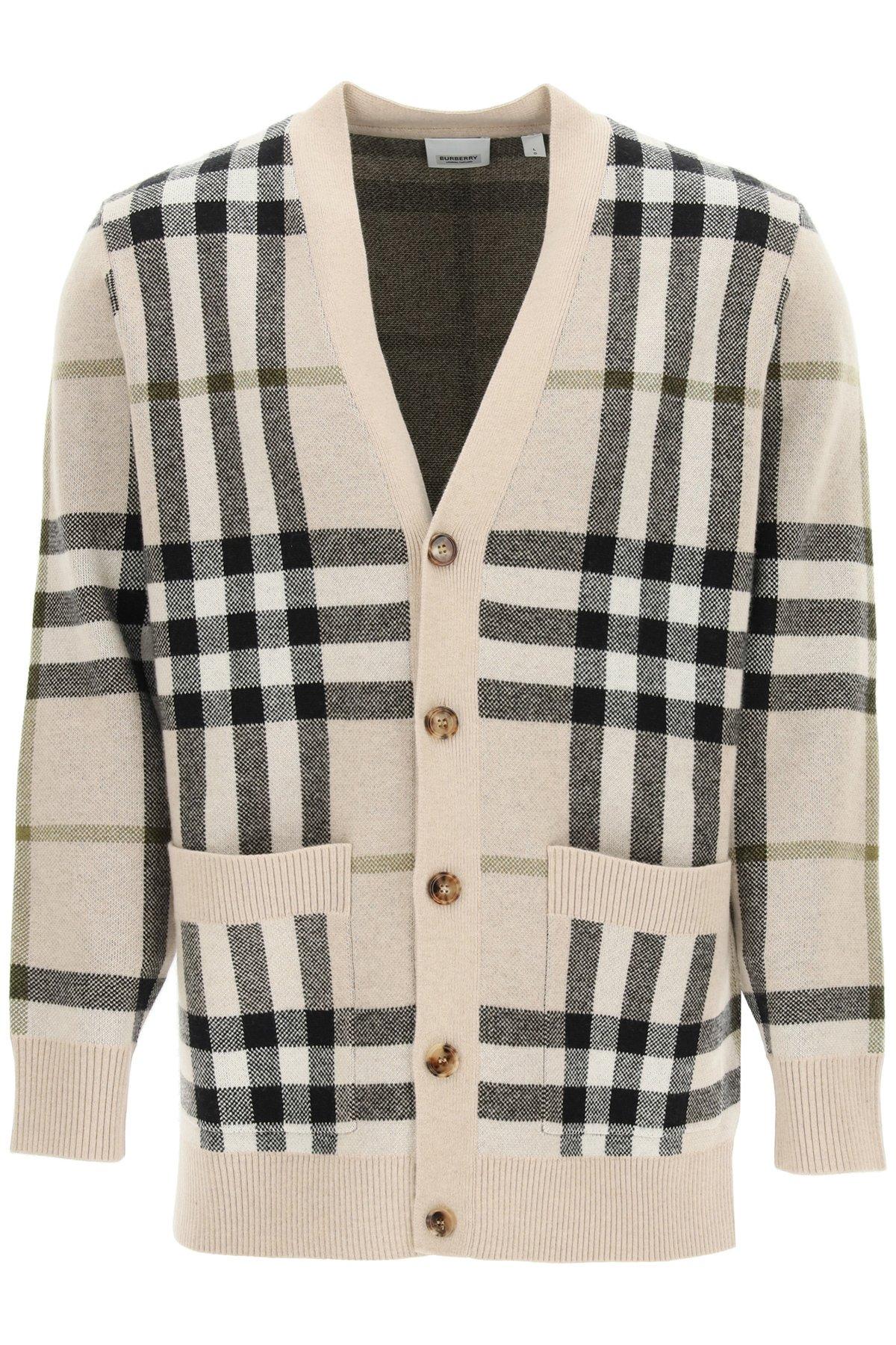 Burberry cardigan wilmore in lana e cashmere
