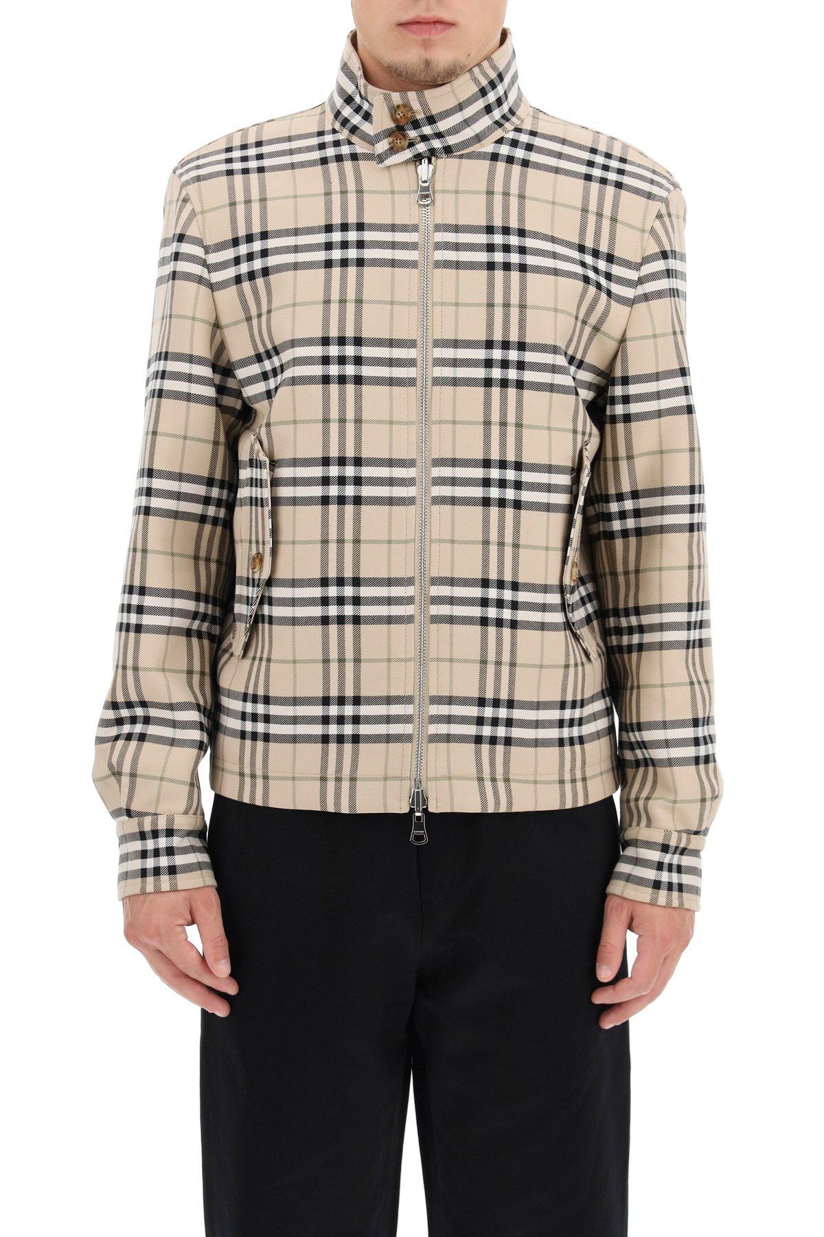 Burberry giacca reversibile in gabardine