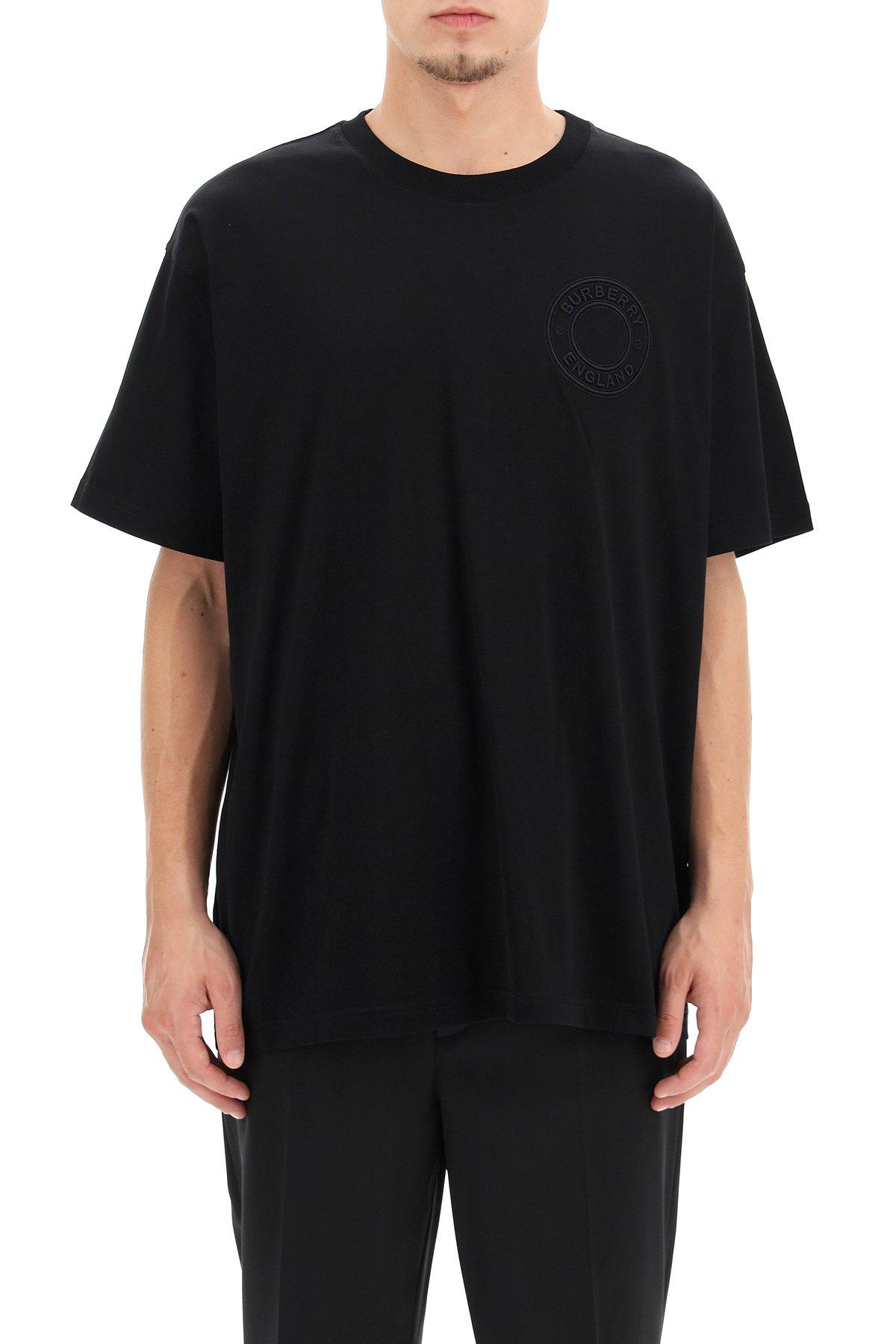 Burberry t-shirt over ronin ricamo logo