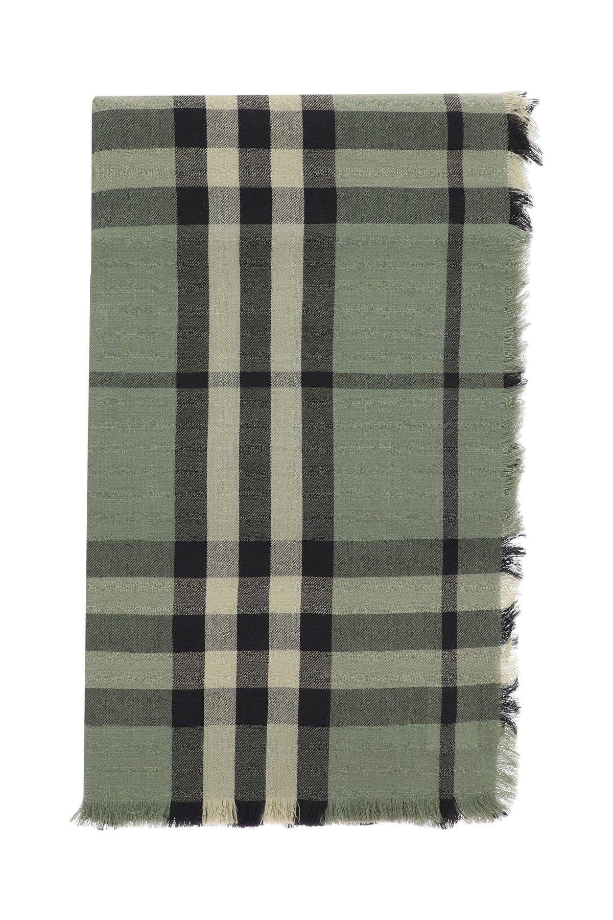 Burberry sciarpa check in cashmere