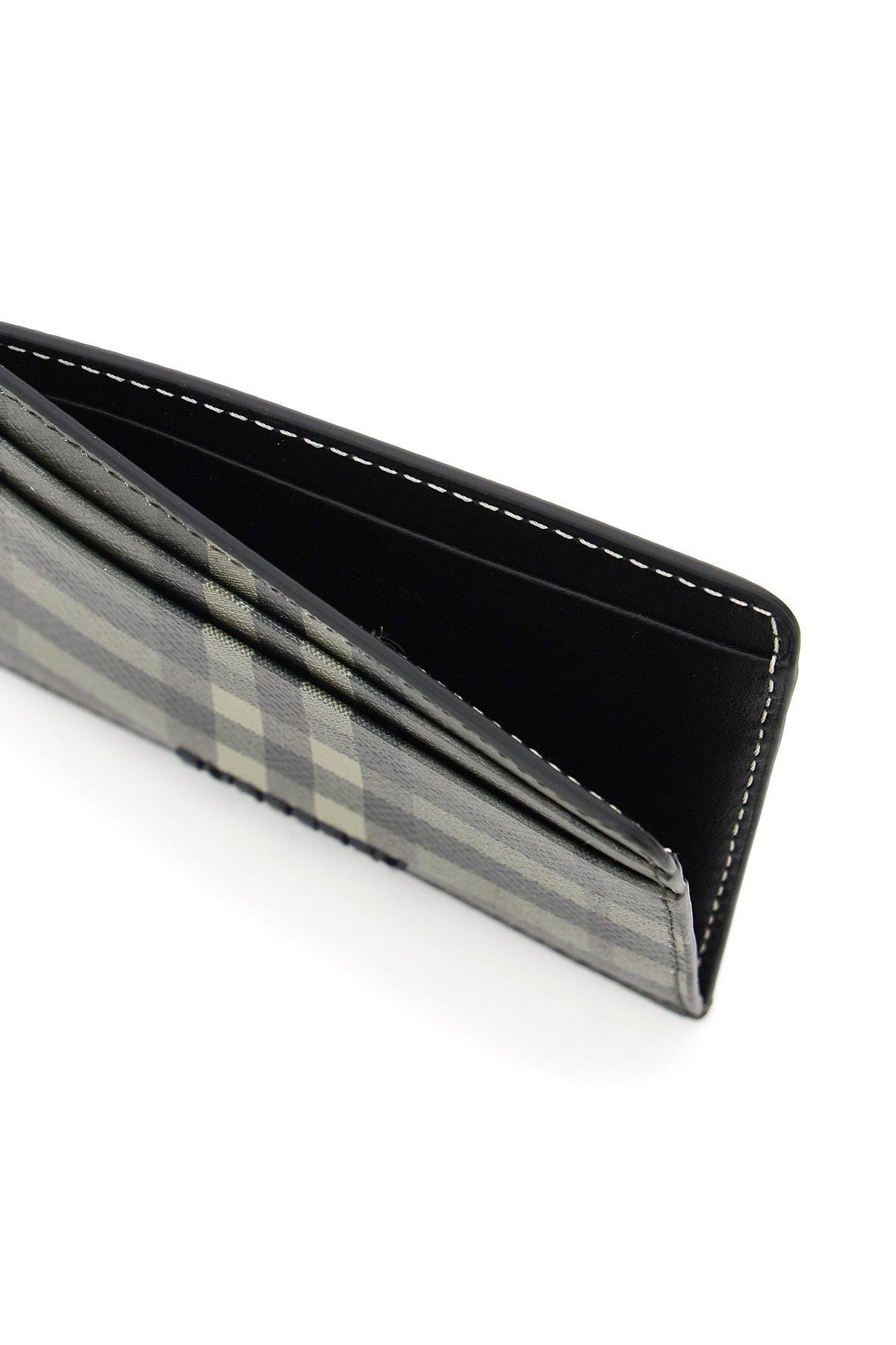Burberry porta carte di credito in pelle