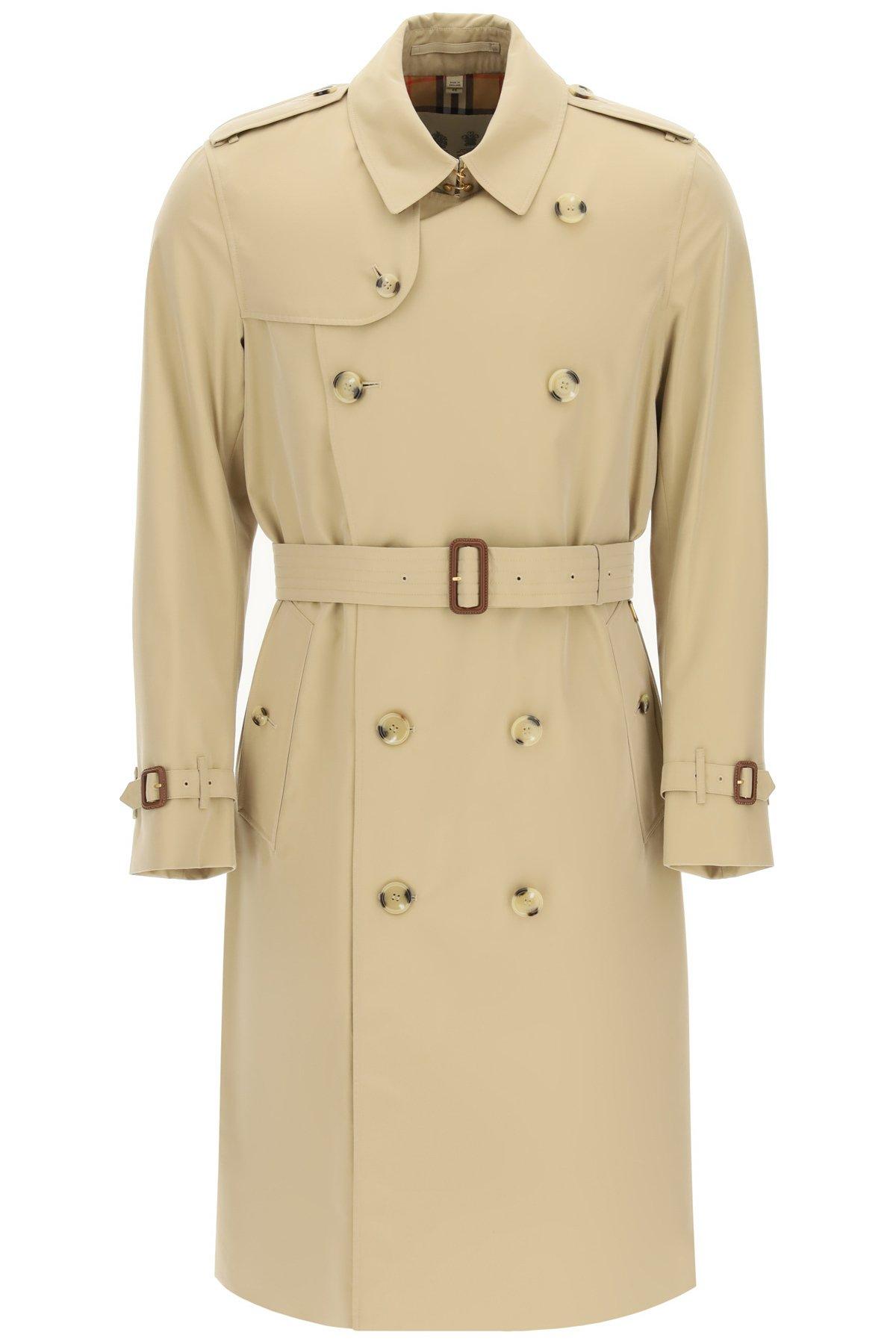 Burberry trench coat kensington lungo