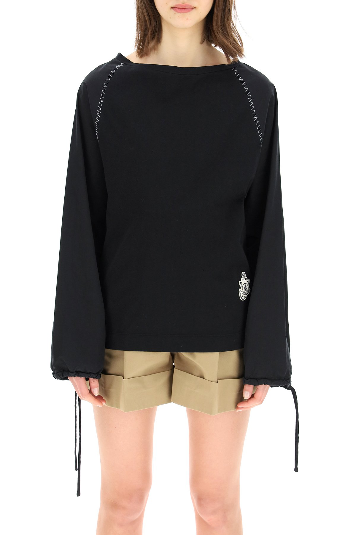 Moncler x jwanderson blusa in jersey e popeline moncler genius 1
