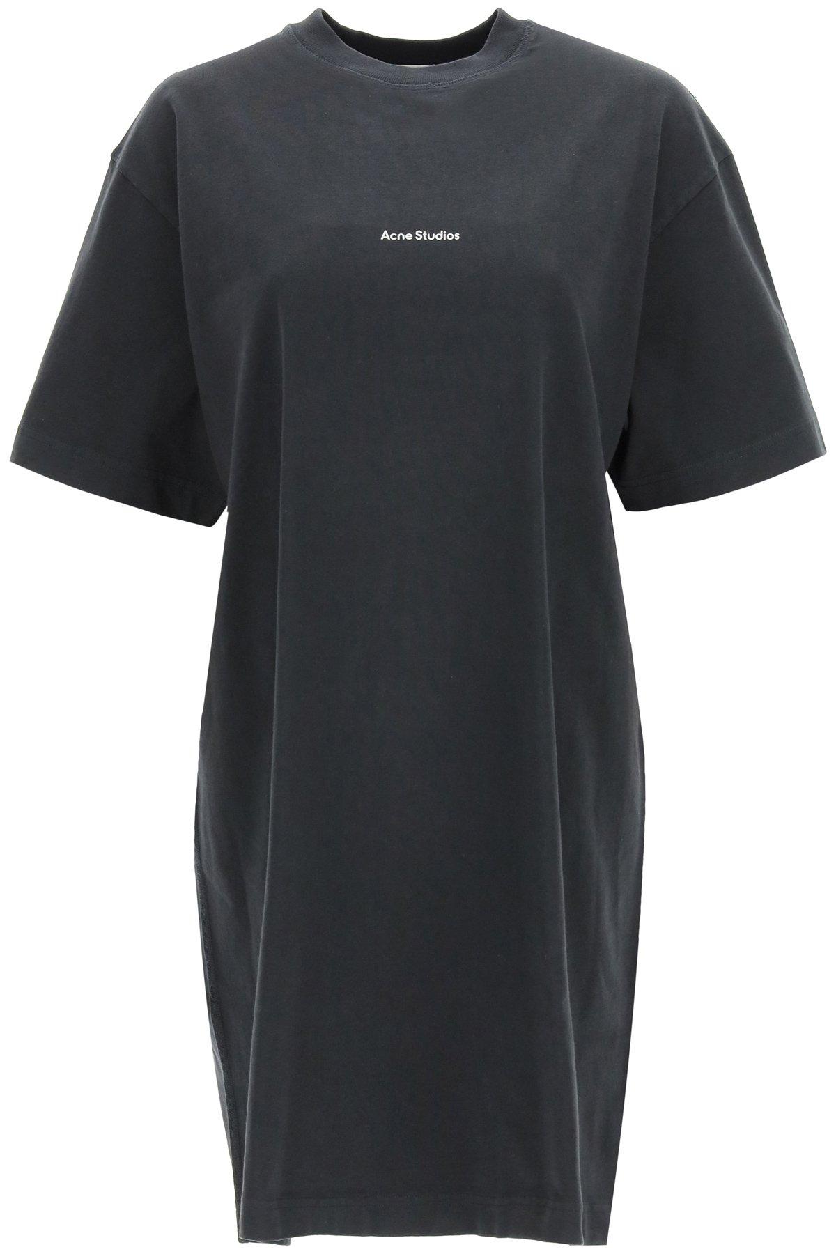 Acne studios abito t-shirt con stampa logo