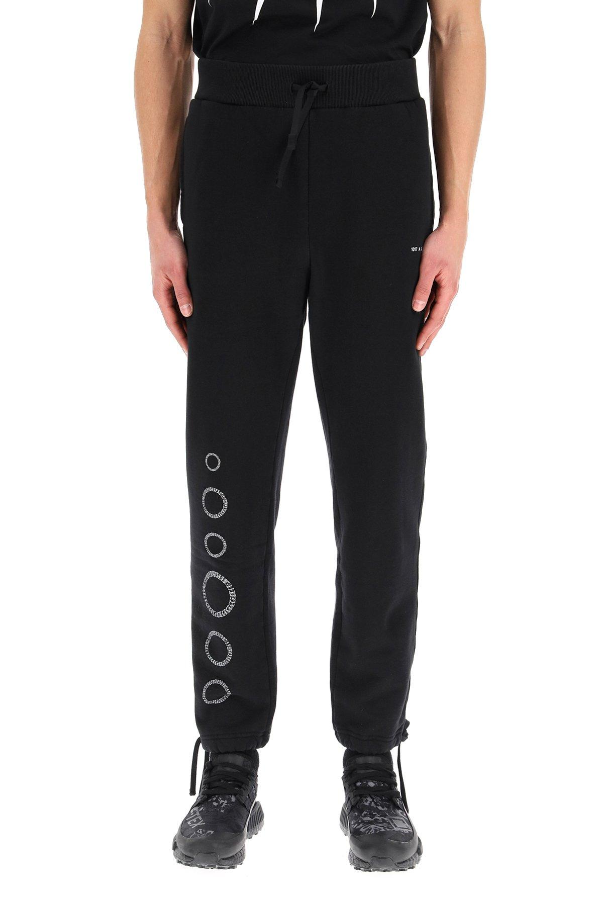 1017 alyx 9sm pantaloni jogger stamap cube chain