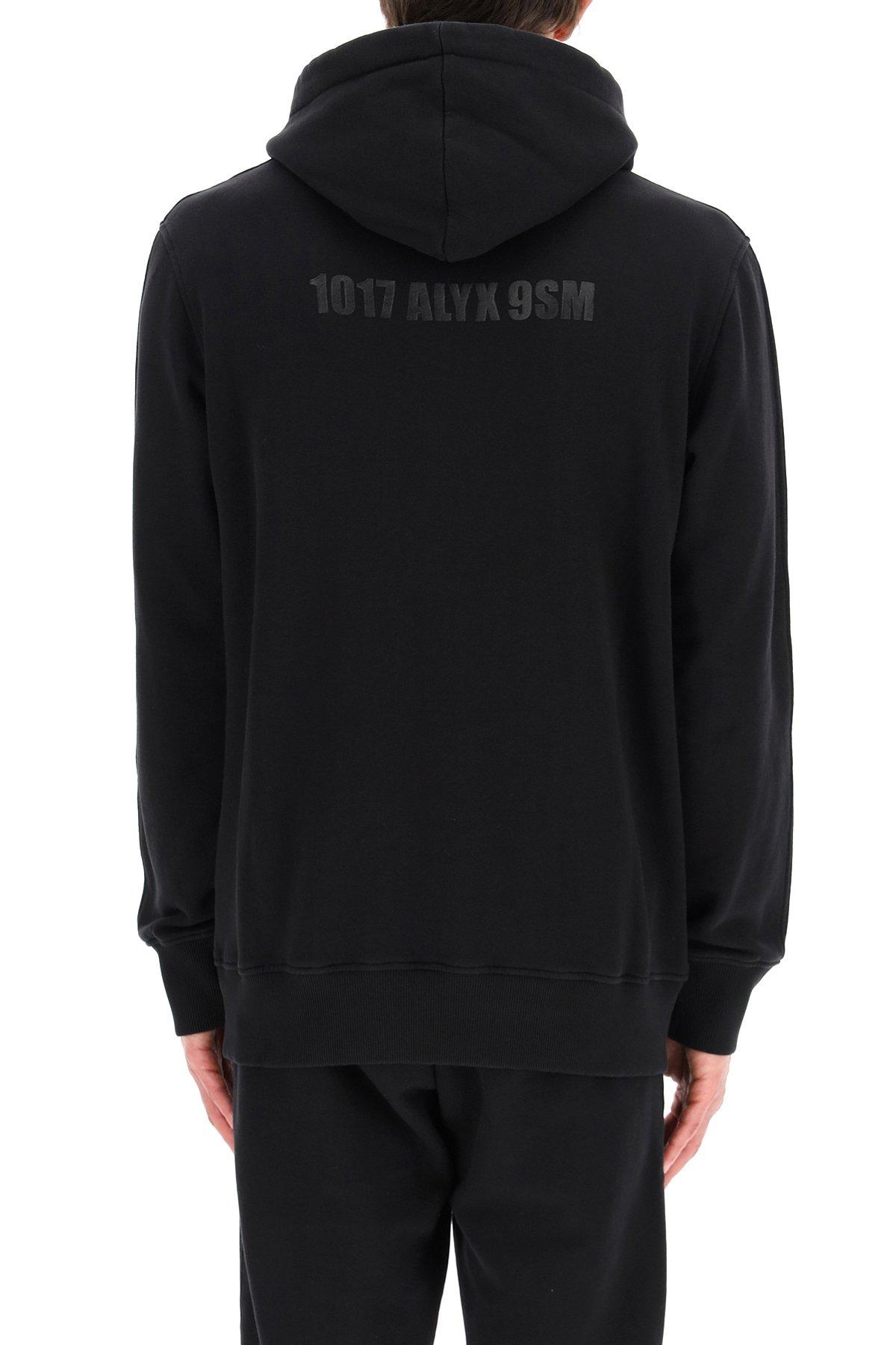 1017 alyx 9sm felpa con cappuccio mirror logo