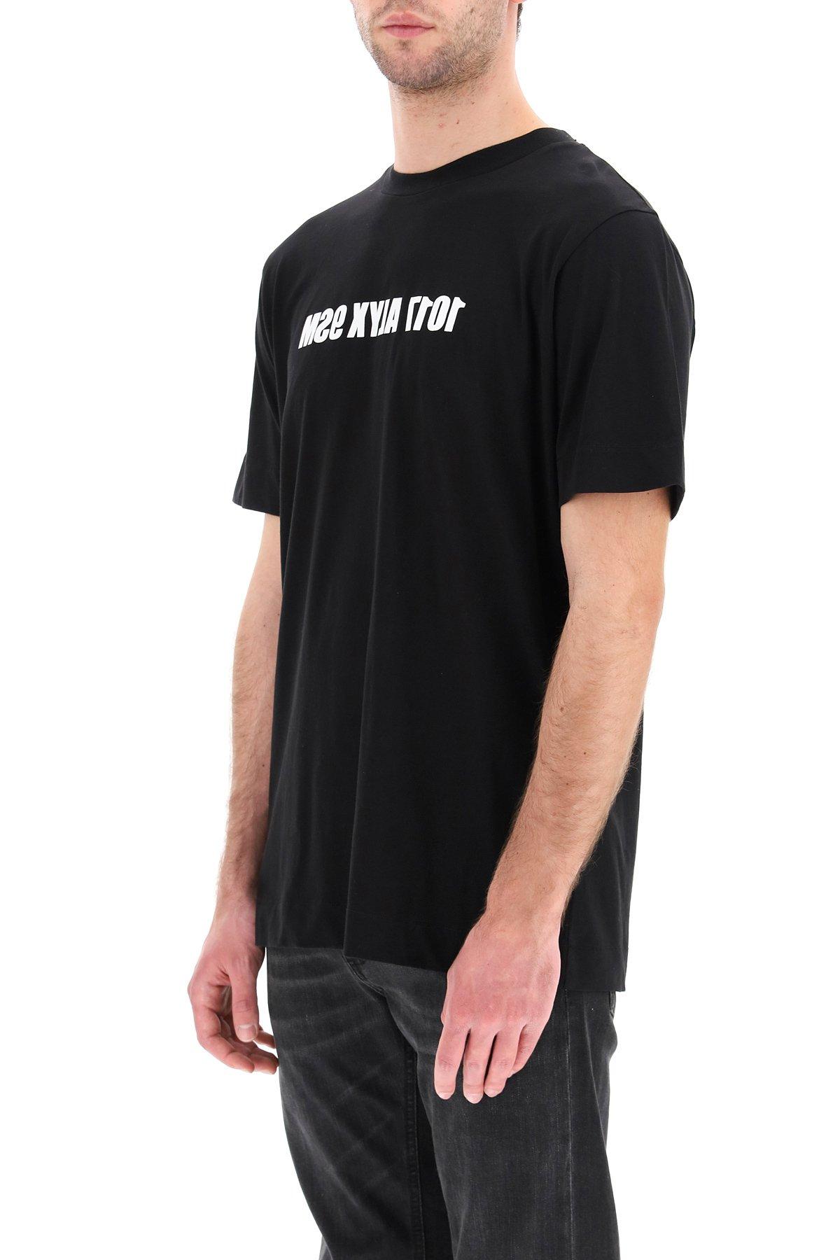 1017 alyx 9sm t-shirt con logo mirrored