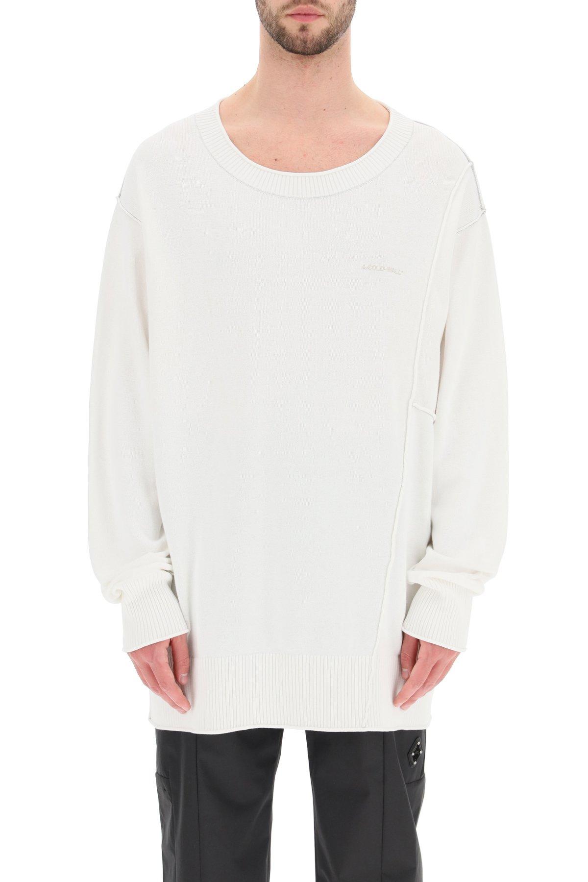A cold wall pullover girocollo essentials ricamo logo