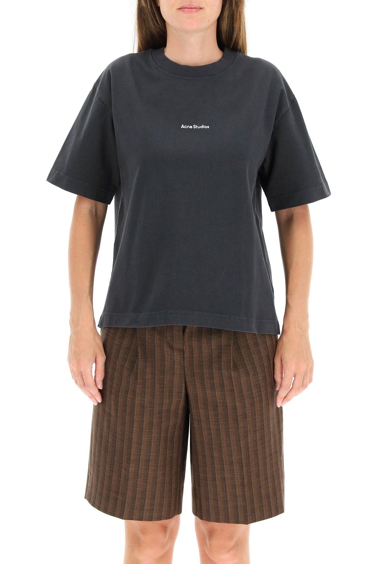 Acne studios t-shirt con stampa logo