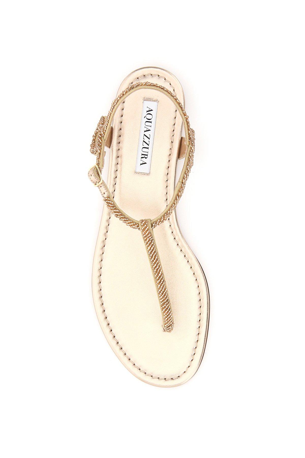 Aquazzura sandali flat almost bare beads