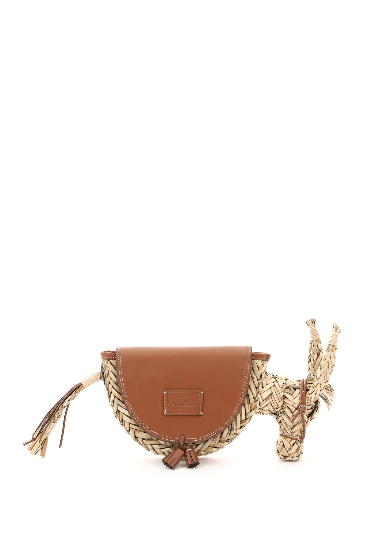 Anya hindmarch clutch donkey in seagrass e pelle