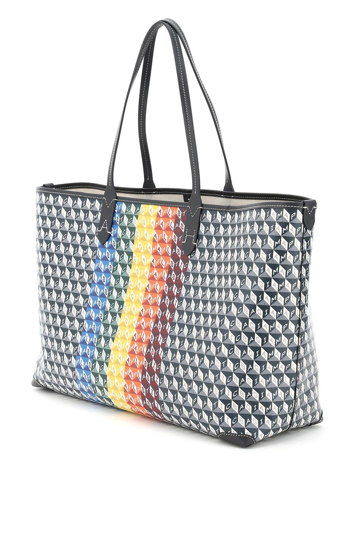"Anya hindmarch borsa shopping grande ""i am a plastic bag"""