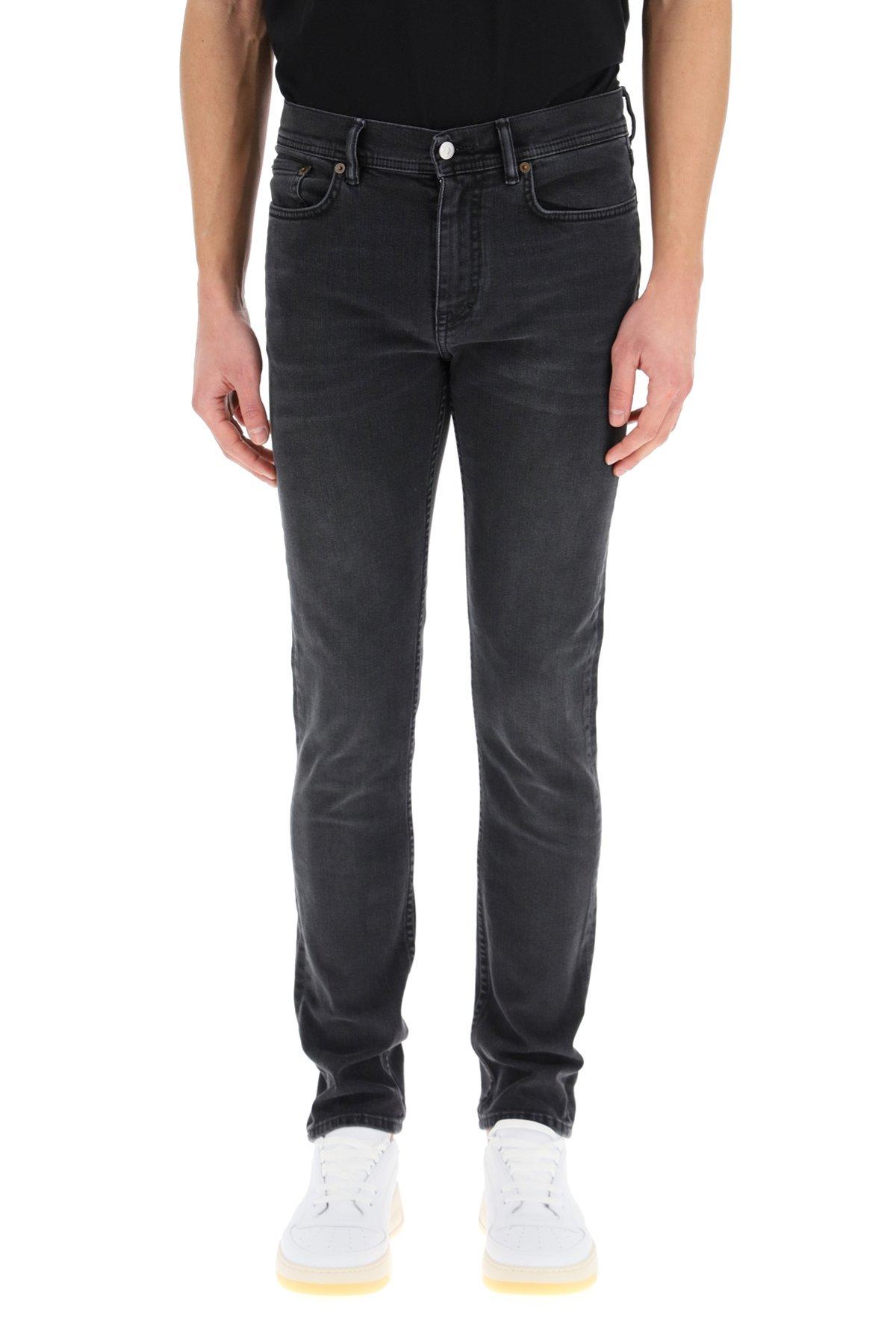 Acne studios jeans north nero sbiadito