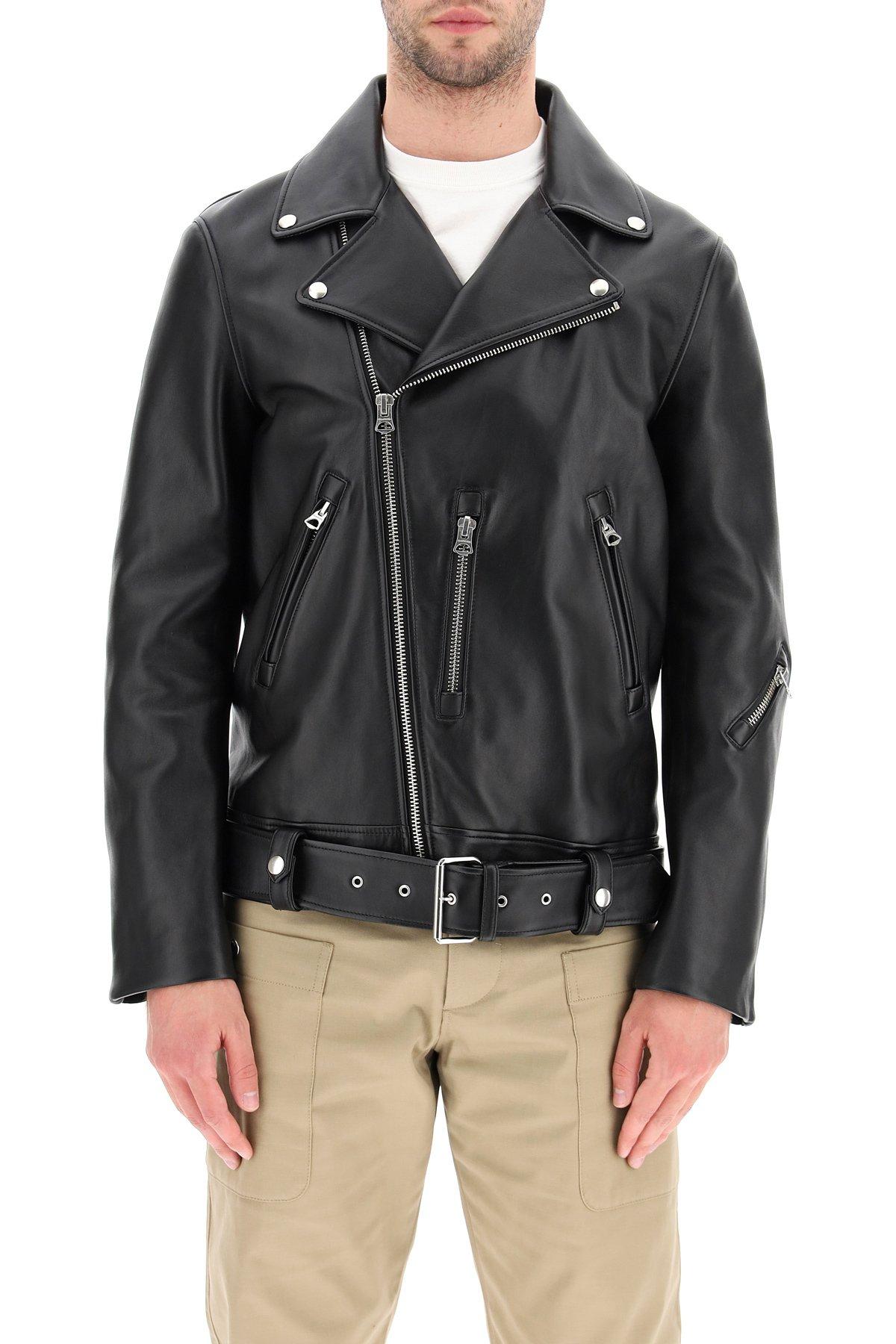 Acne studios giacca biker in pelle