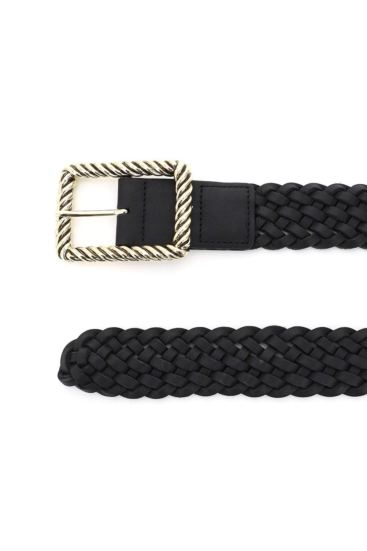 B low the belt cintura in pelle intrecciata jeanelle
