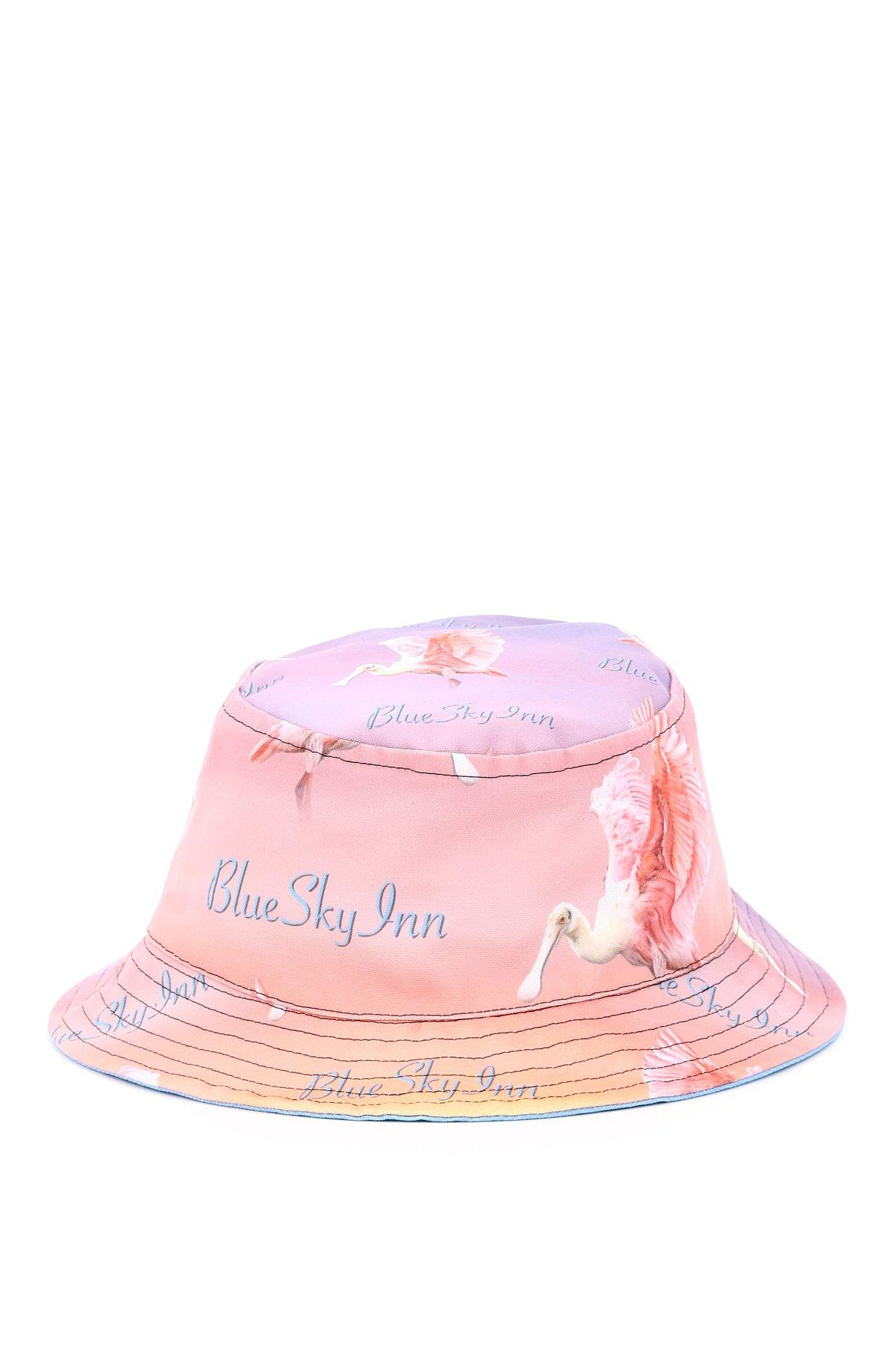 Blue sky inn bucket hat con stampa