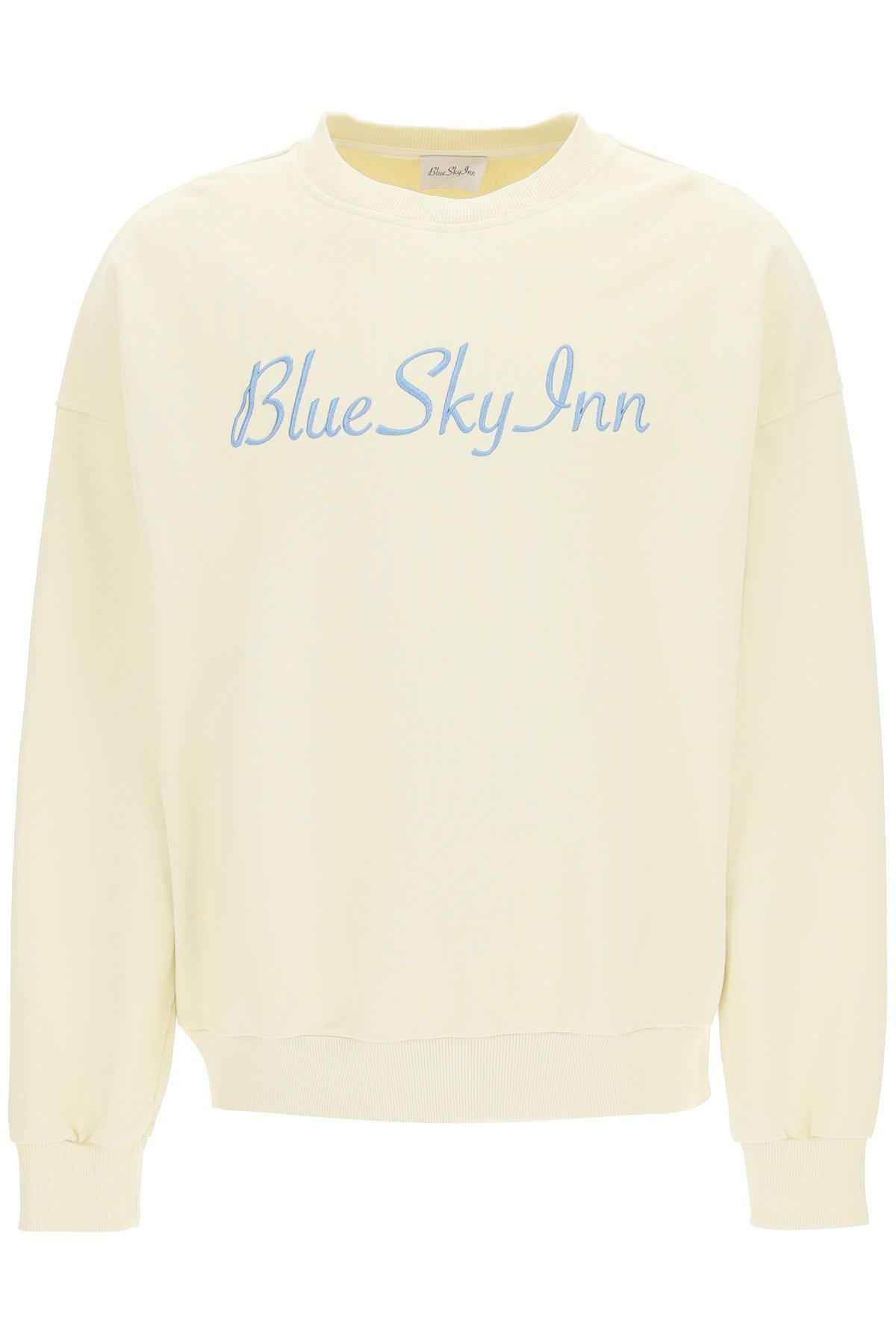 Blue sky inn felpa con logo ricamato
