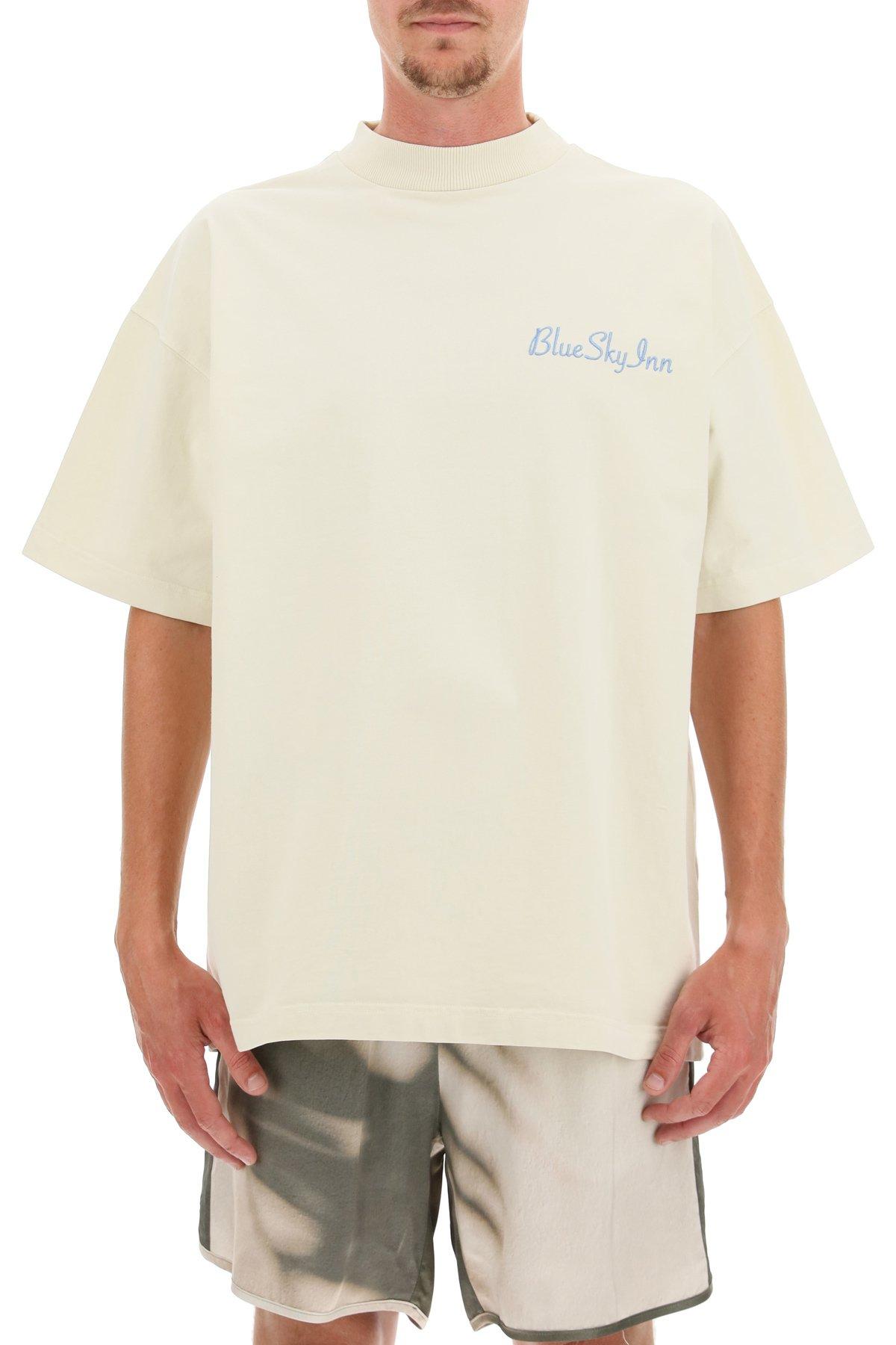 Blue sky inn t-shirt oversize con ricamo logo