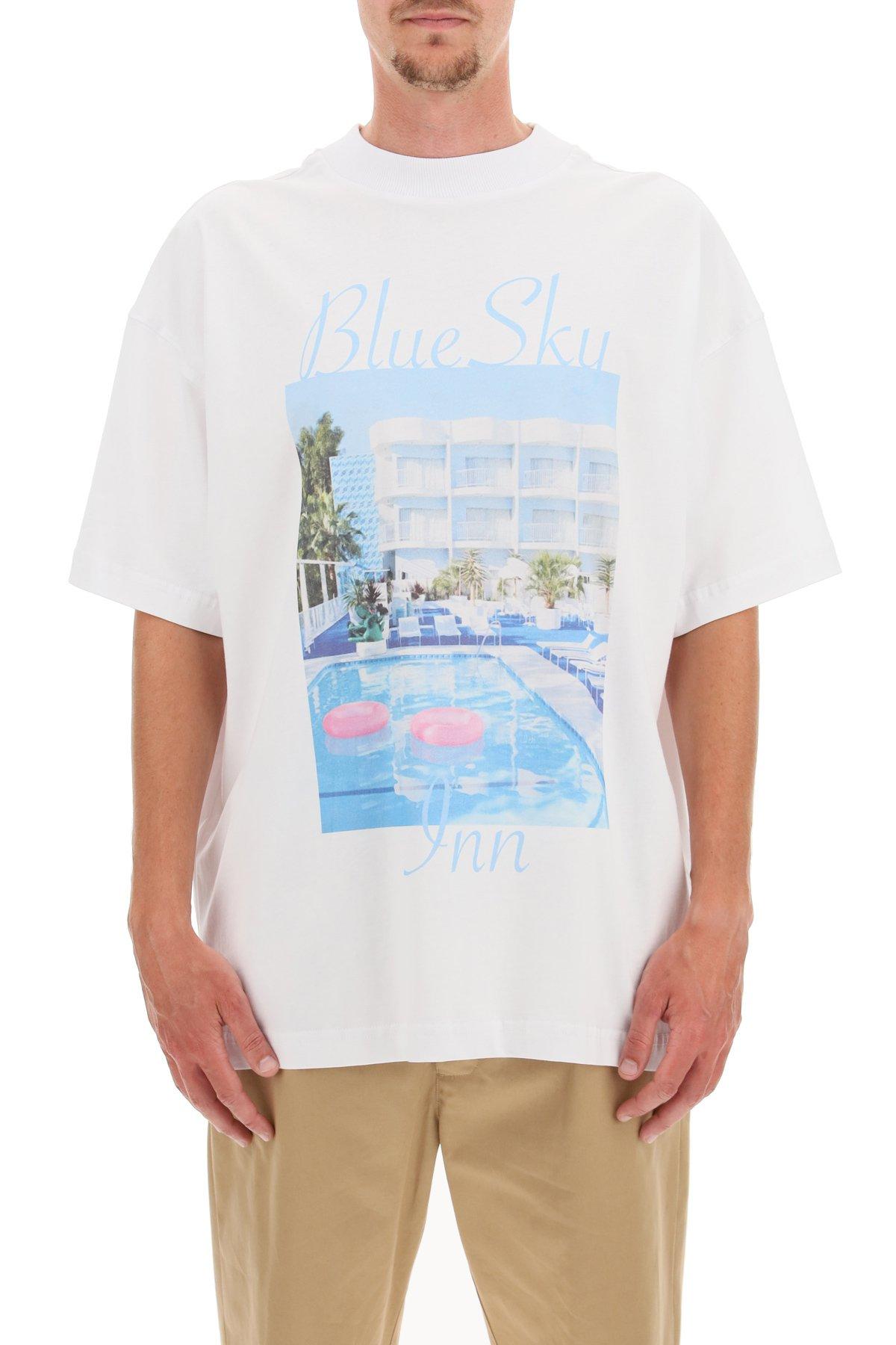 Blue sky inn t-shirt pool