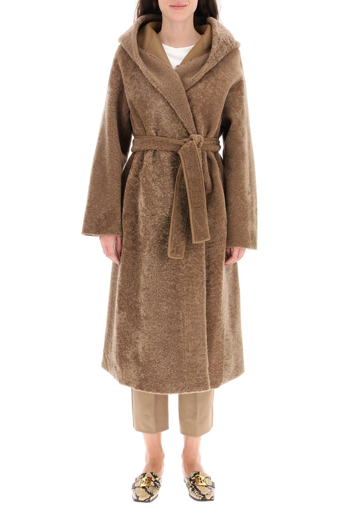 's max mara cappotto shearling camilla