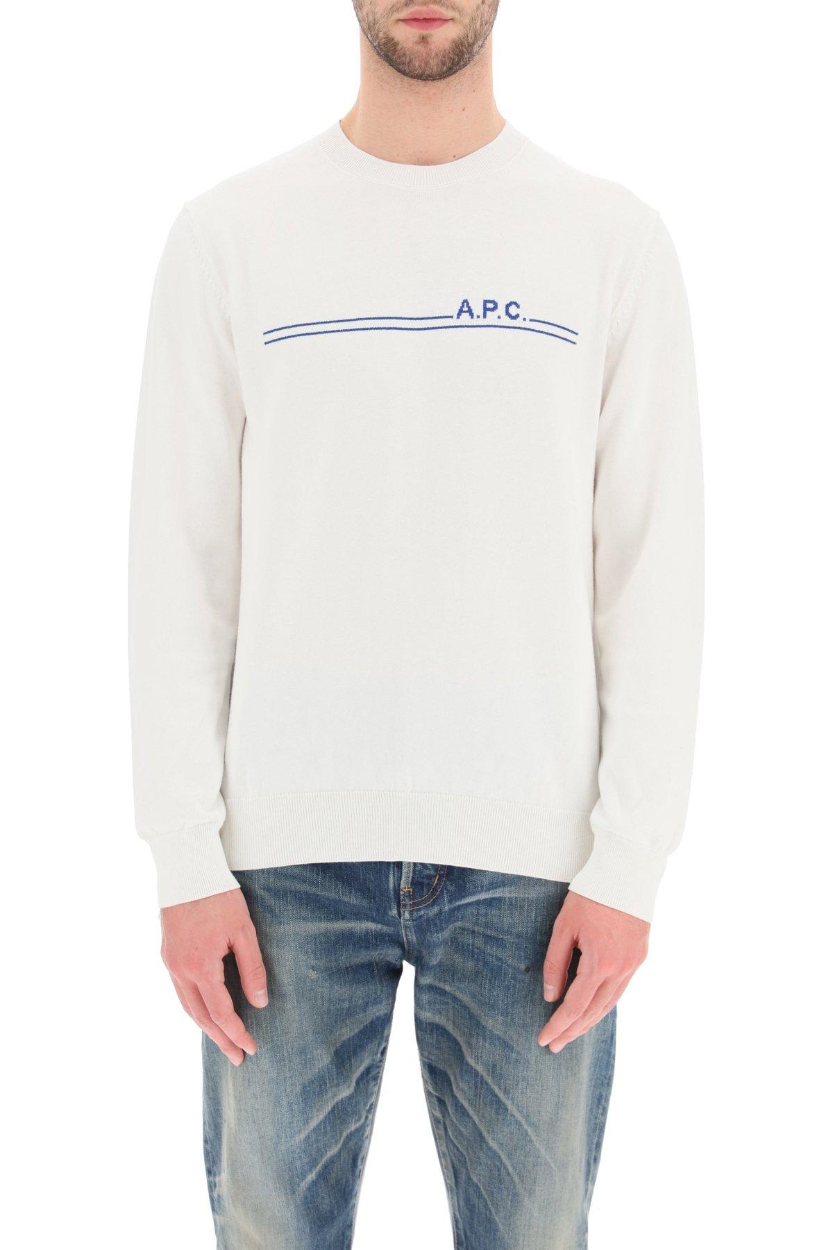 A.p.c. pullover eponyme con intarsio logo