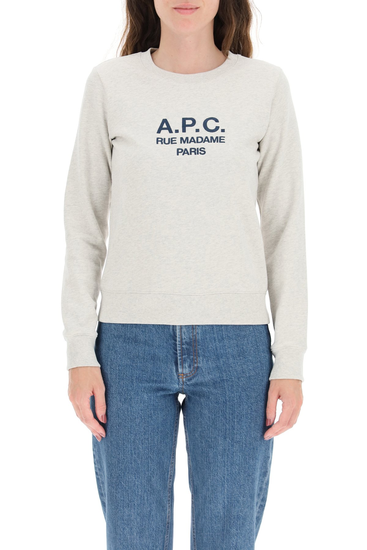 A.p.c. felpa tina con ricamo logo