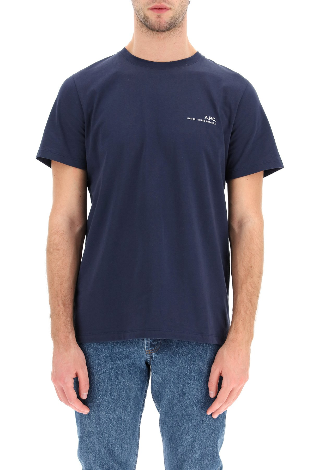 A.p.c. t-shirt item 001 con stampa logo