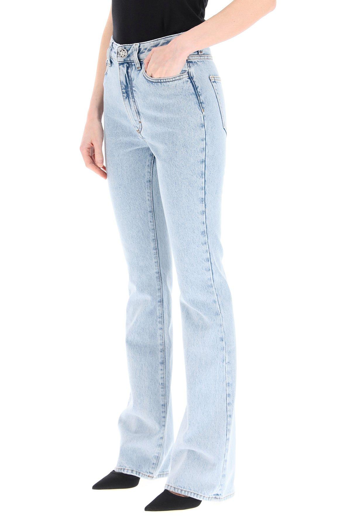 Alessandra rich jeans flare a vita alta