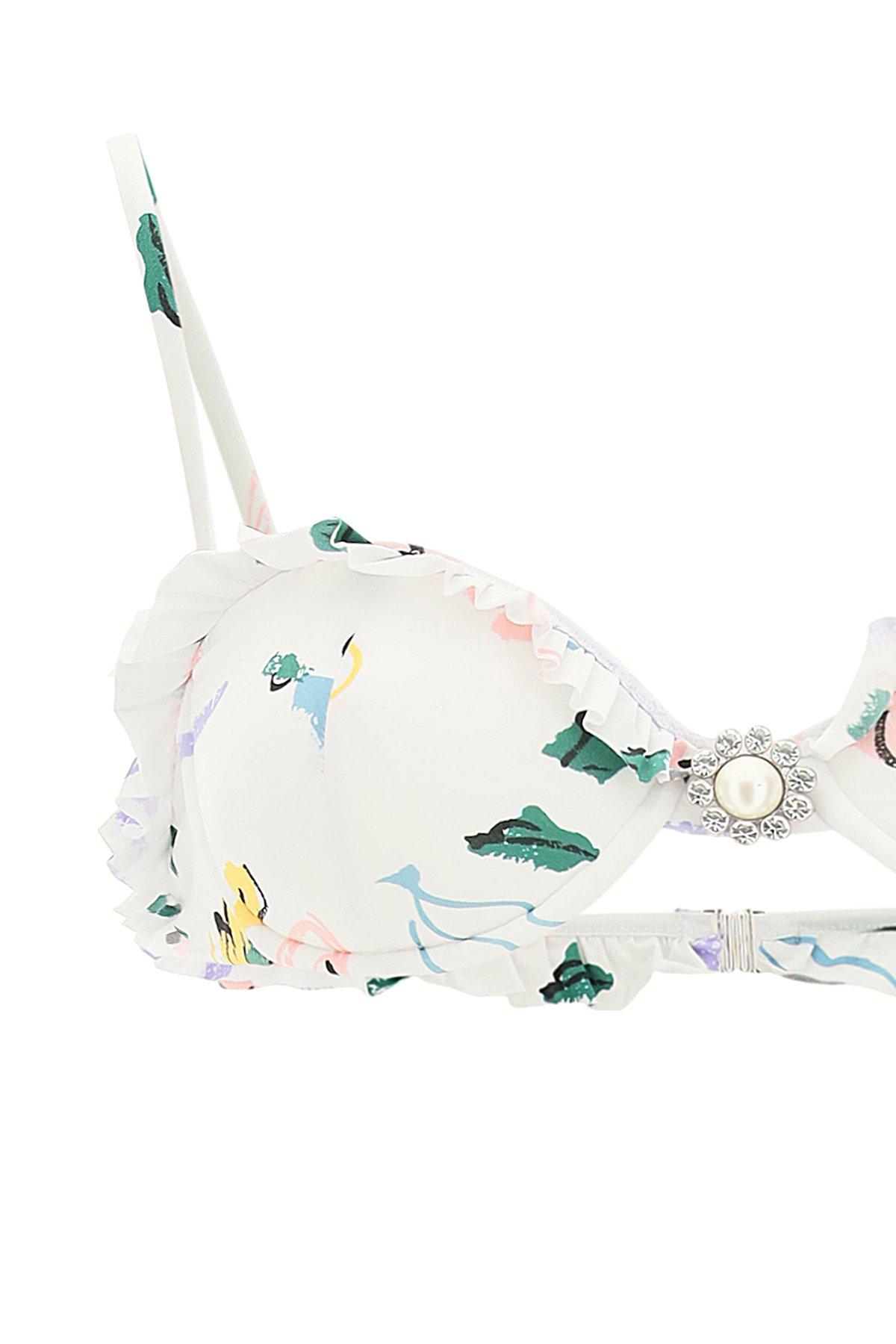 Alessandra rich bikini stampa floreale
